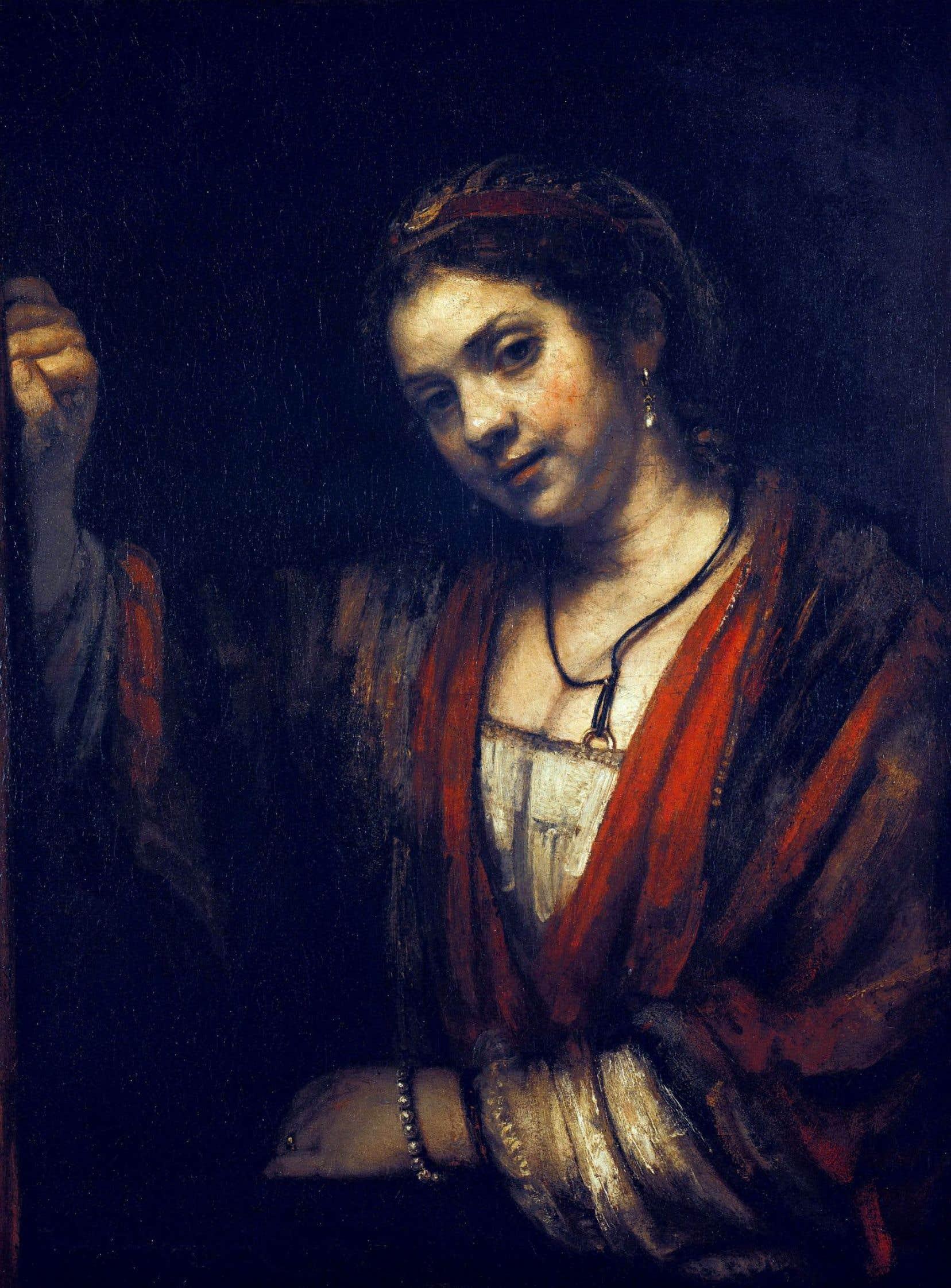 Un des portraits de Hendrickje Stoffels peint par Rembrandt. Huile sur toile, autour de 1656.