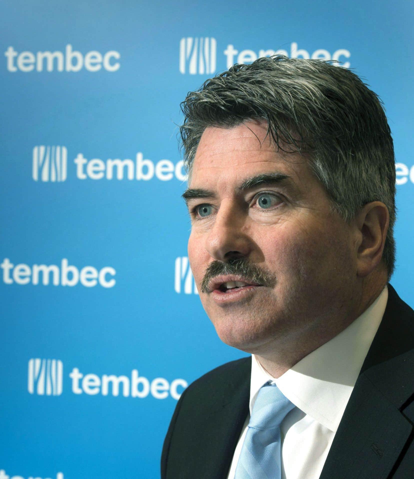 Le président et chef de la direction de l'entreprise Tembec, James Lopez