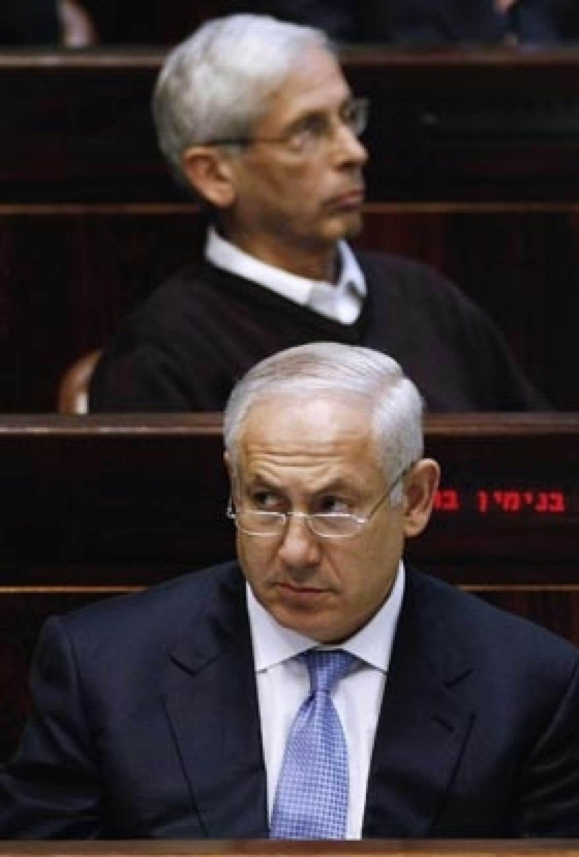 Benjamin Nétanyahou, hier à la Knesset: «Nous ne voulons pas gouverner un autre peuple...»