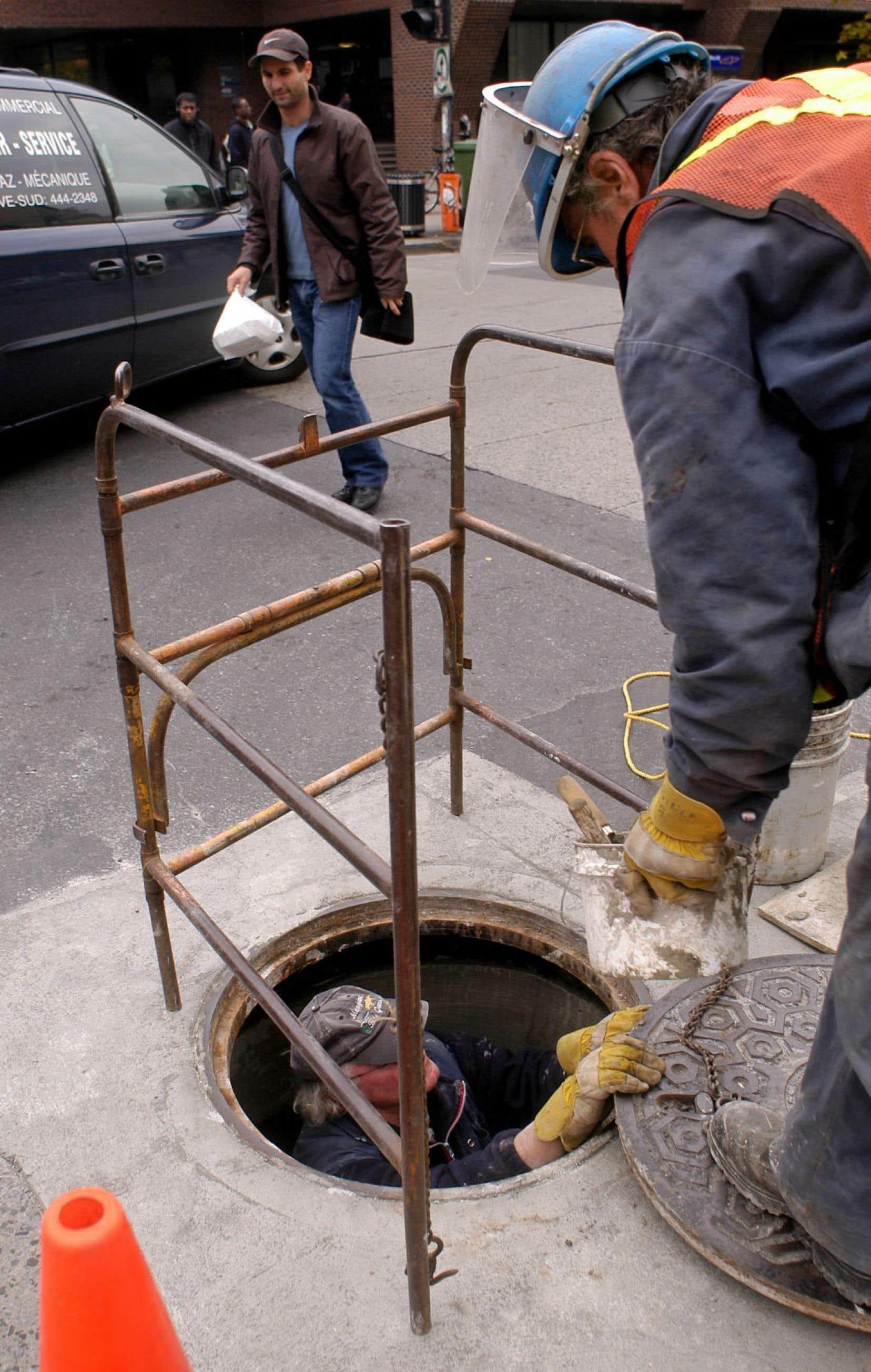 La Ville avait octroyé à la firme un contrat pour la gestion du chantier de réfection des égouts.