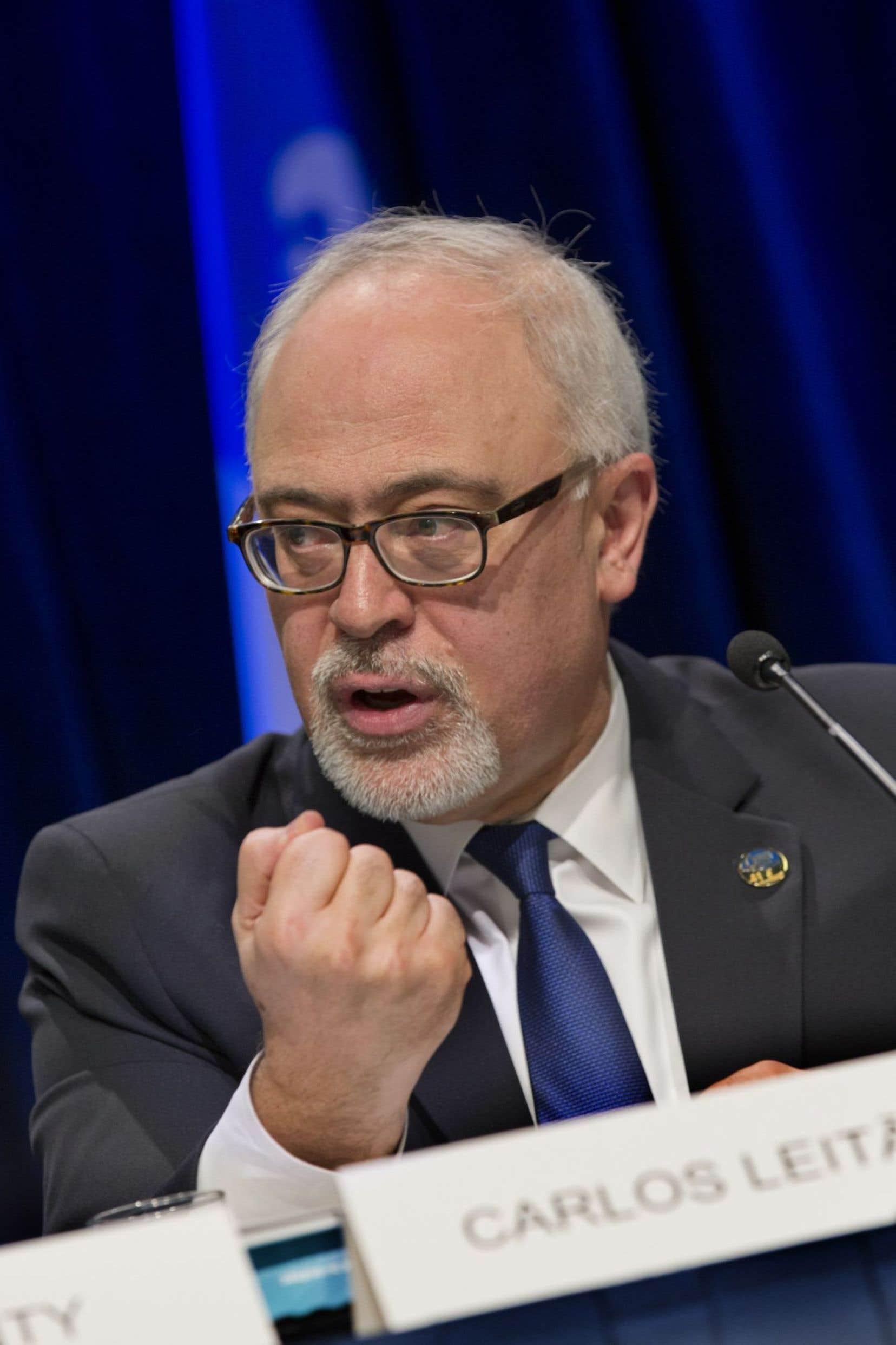 Le ministre québécois des Finances, Carlos Leitao