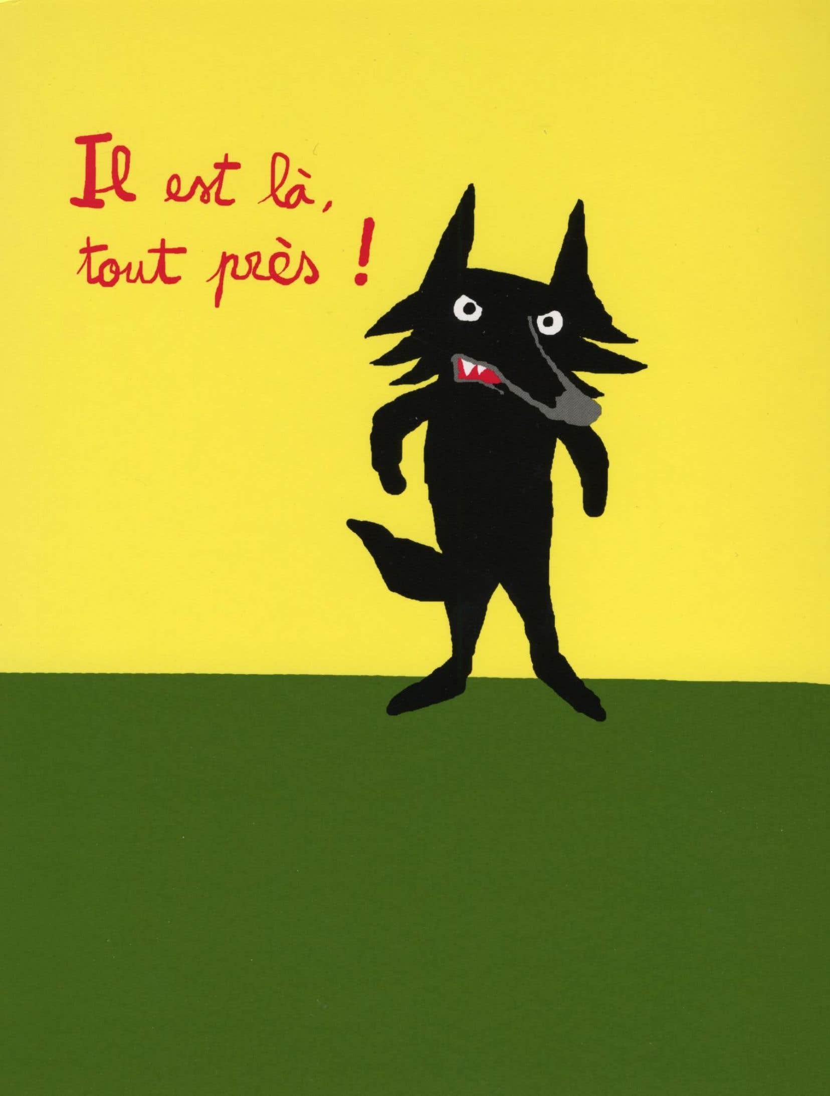 Une page du livre «Au secours voilà le loup», de Ramadier & Bourgeau, aux éditions L'École des loisirs.