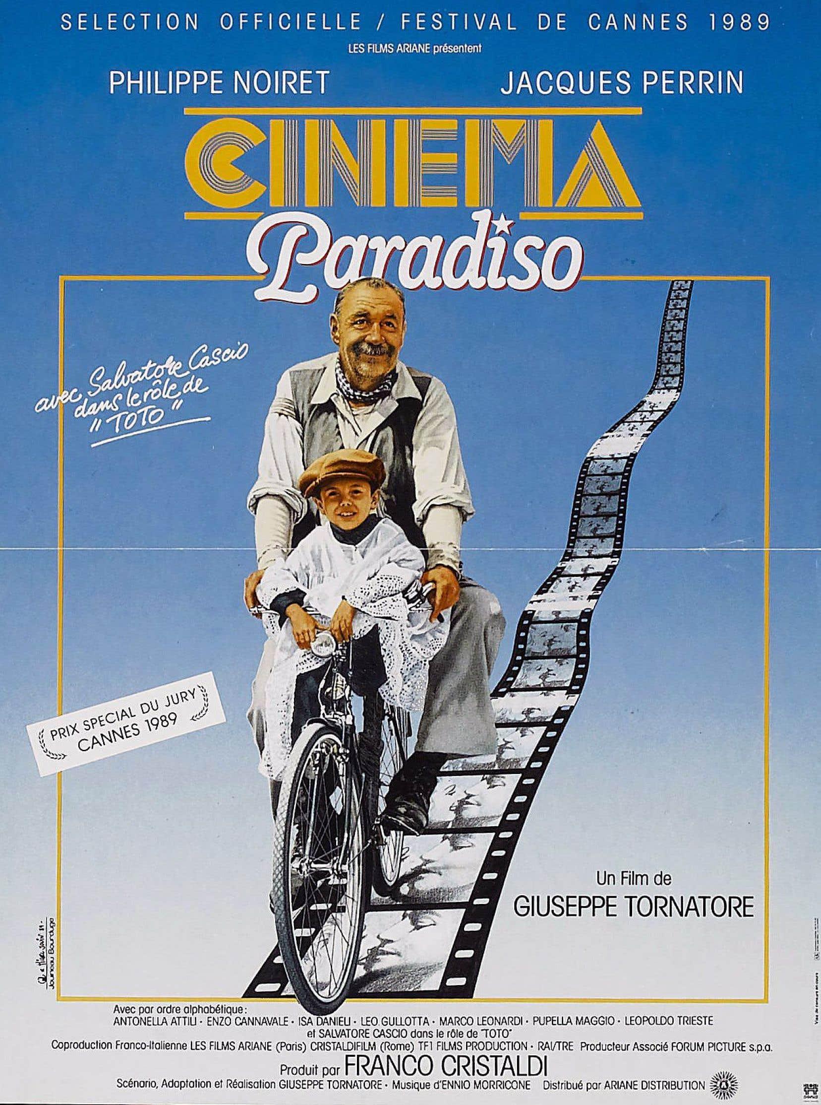 Affiche originale de «Cinema Paradiso», du réalisateur italien Giuseppe Tornatore
