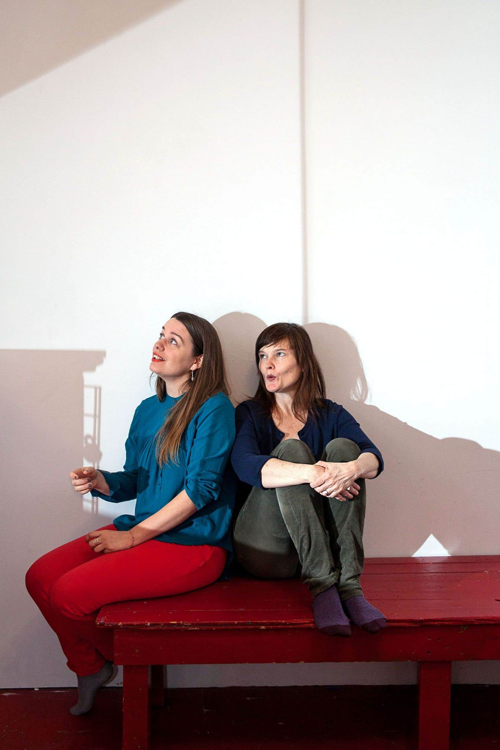 Andrea Rideout et Miriam Ginestier, têtes dirigeantes du festival Edgy Women