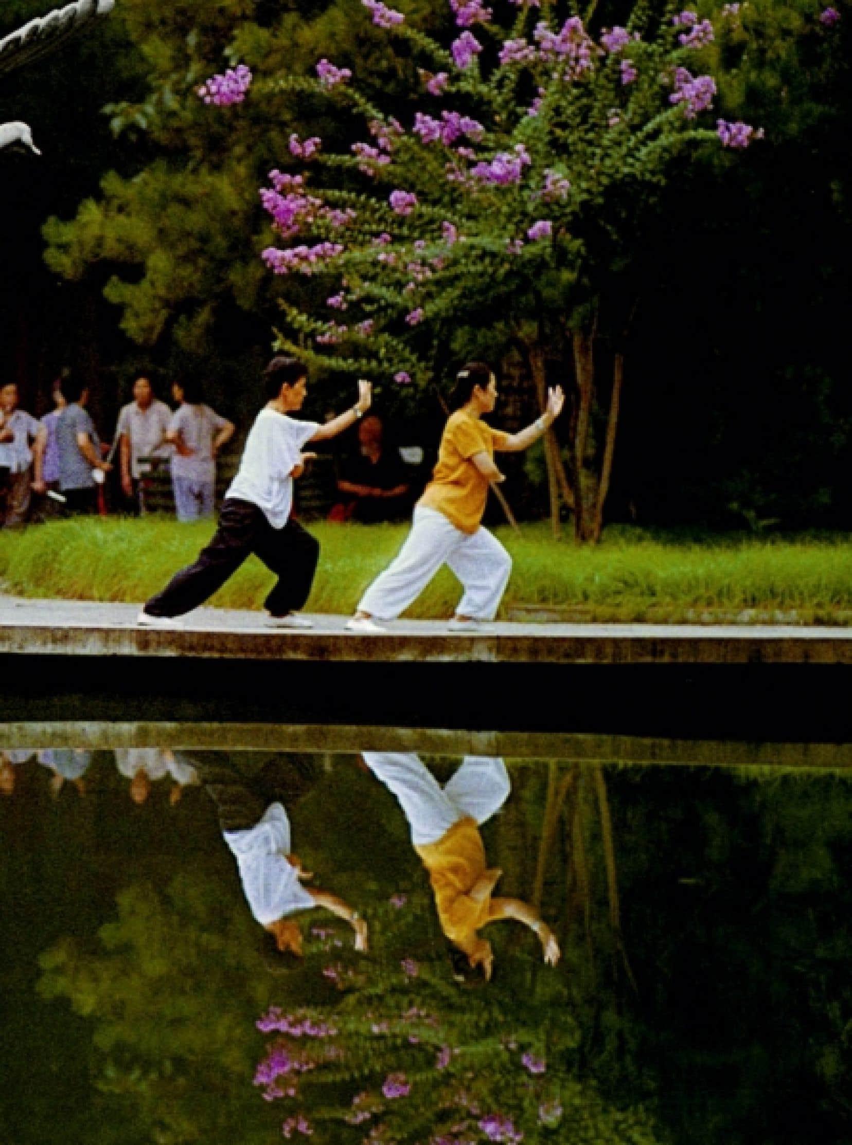 Détail d'une photographie de Lew Yung-Chien tirée de L'Esprit du taï-chi