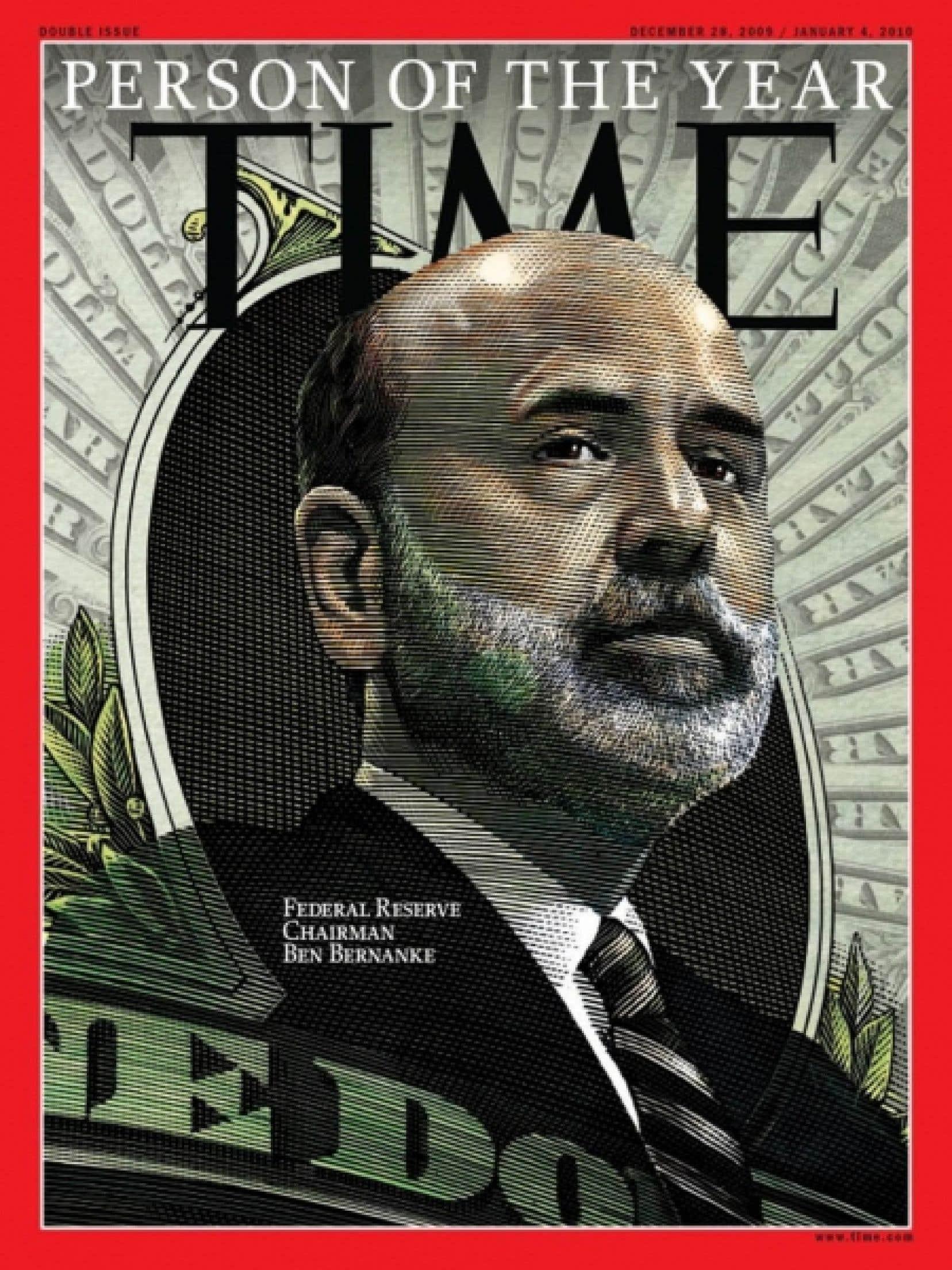 Le président de la Réserve fédérale, Ben Bernanke, succède à Barack Obama dans la liste des personnalités honorées par le Time.