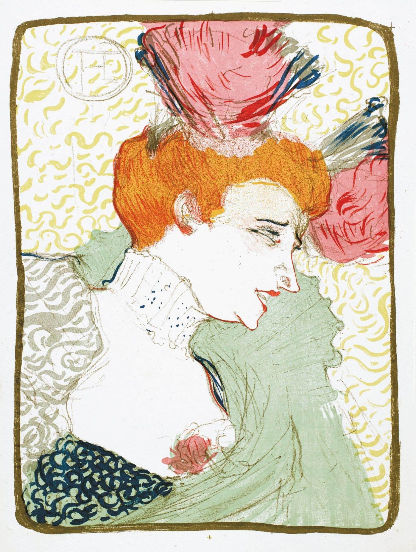 «Mademoiselle Marcelle Lender, en buste», Henri de Toulouse-Lautrec (1895)