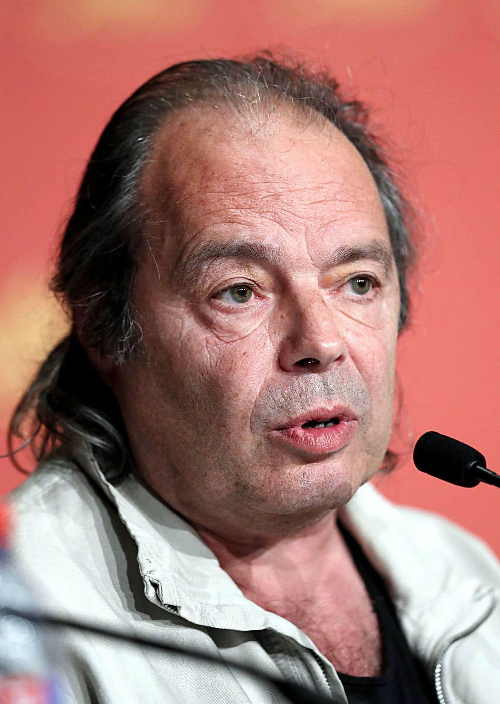 Philippe Djian, le 21 mai 2016 à Cannes, pour la présentation du film «Elle» de Paul Verhoeven, une adaptation de son roman «Oh....»