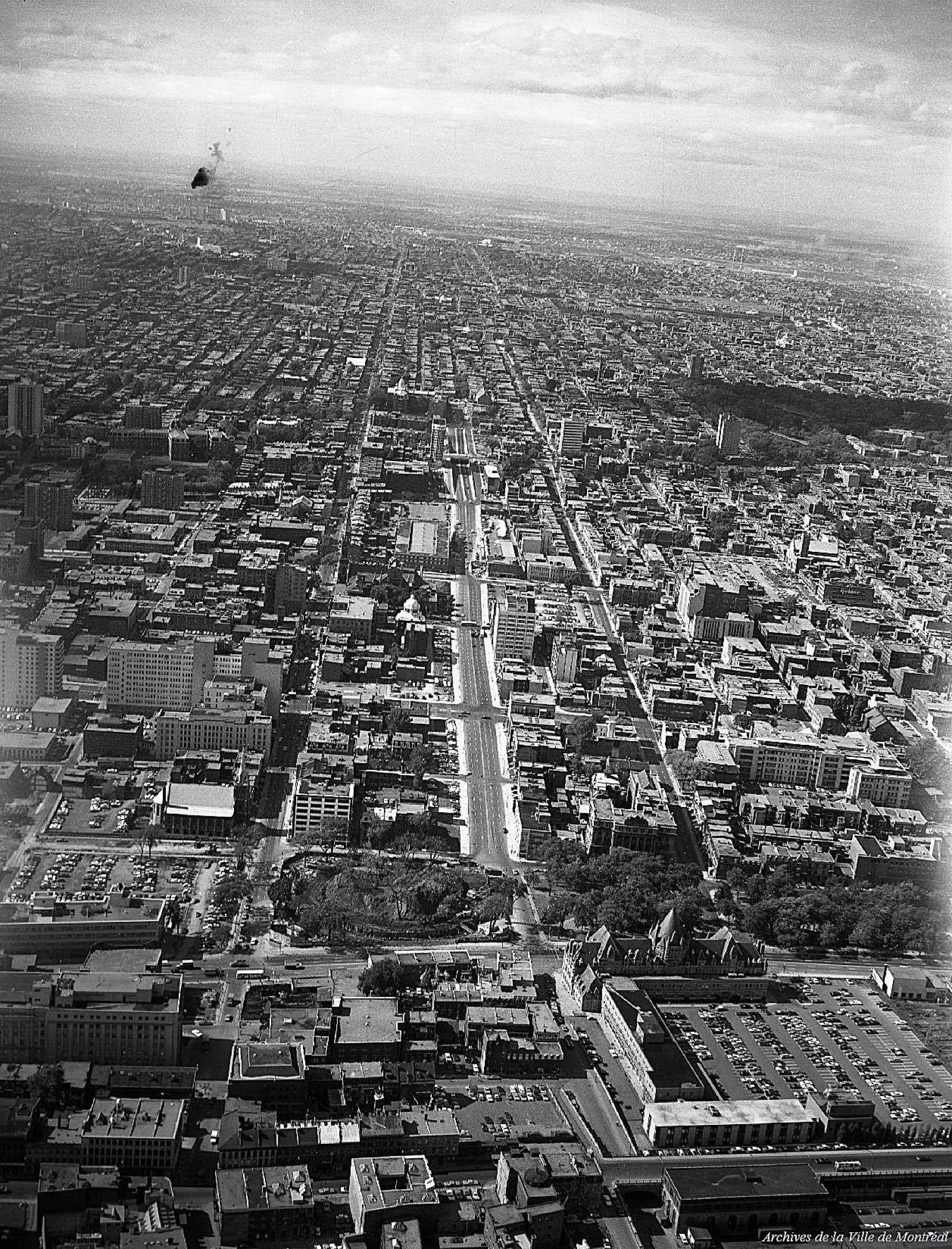 La rue Berri vers le nord en septembre1966