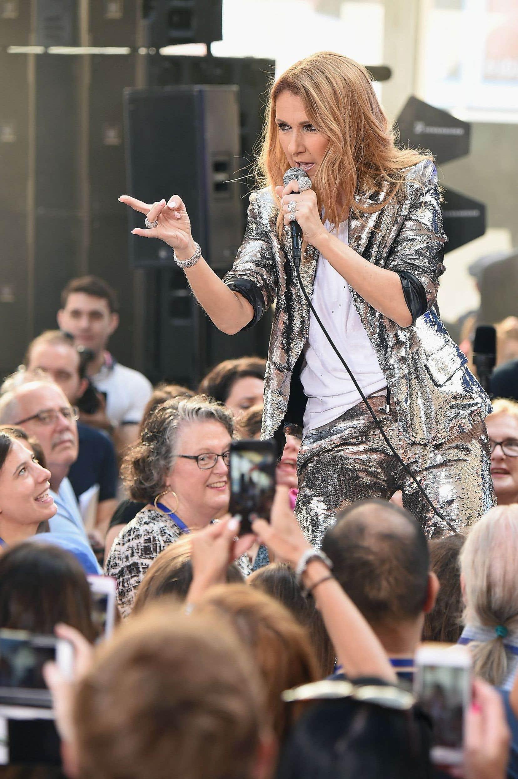 Céline Dion offrait une performance sur «NBC Today» à New York le 22 juillet dernier.