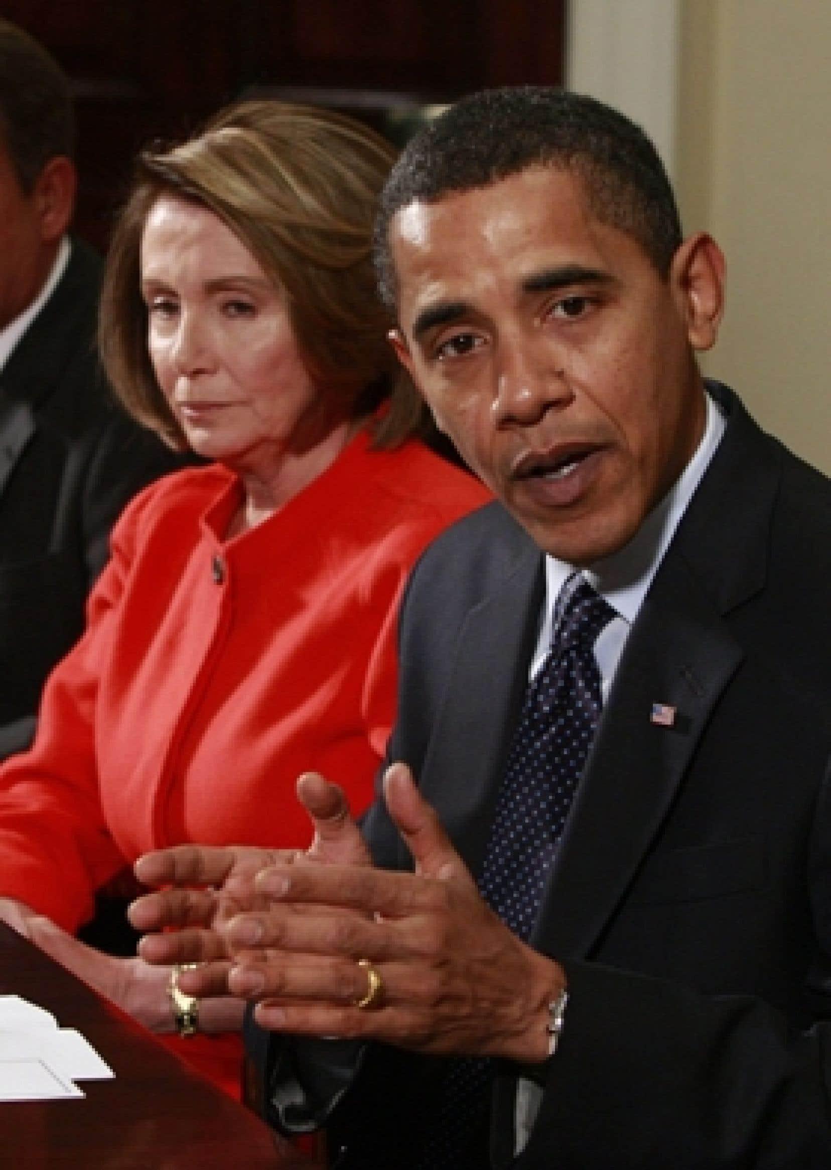 Barack Obama a rencontré Nancy Pelosi, la leader démocrate au Congrès.