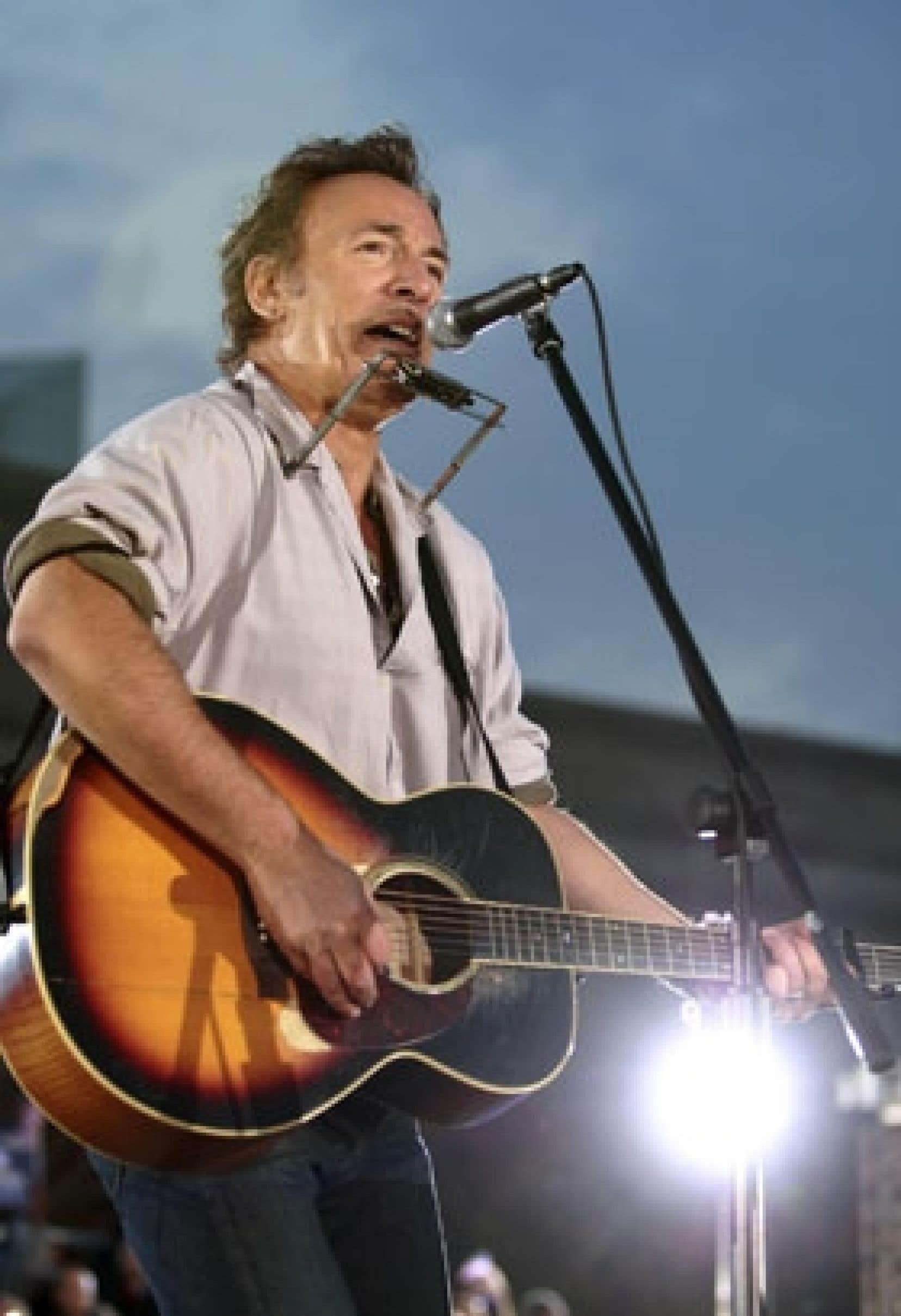 Bruce Springsteen se produisait pour Barack Obama le 2 novembre dernier.