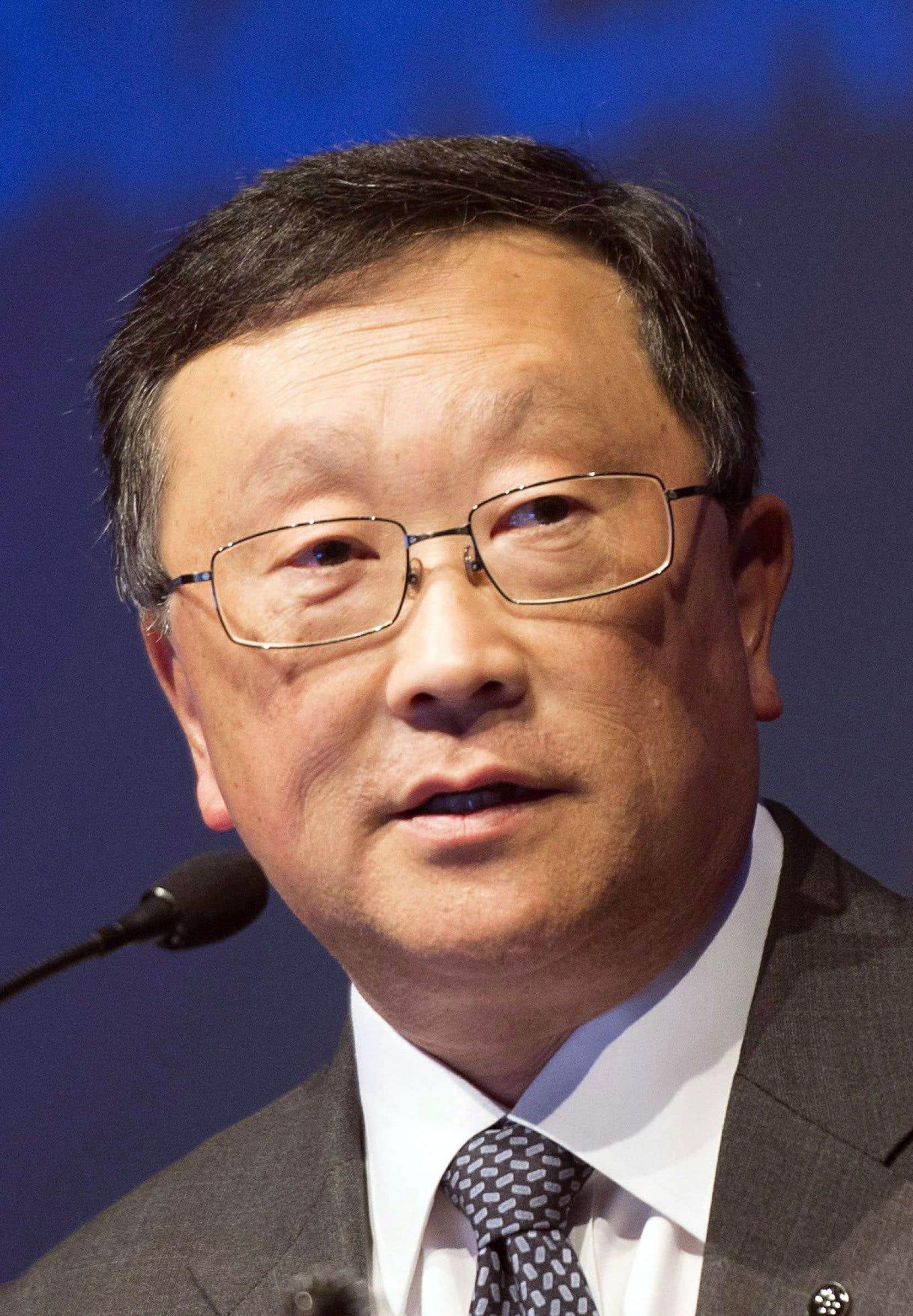 Le président et chef de la direction de BlackBerry,John Chen