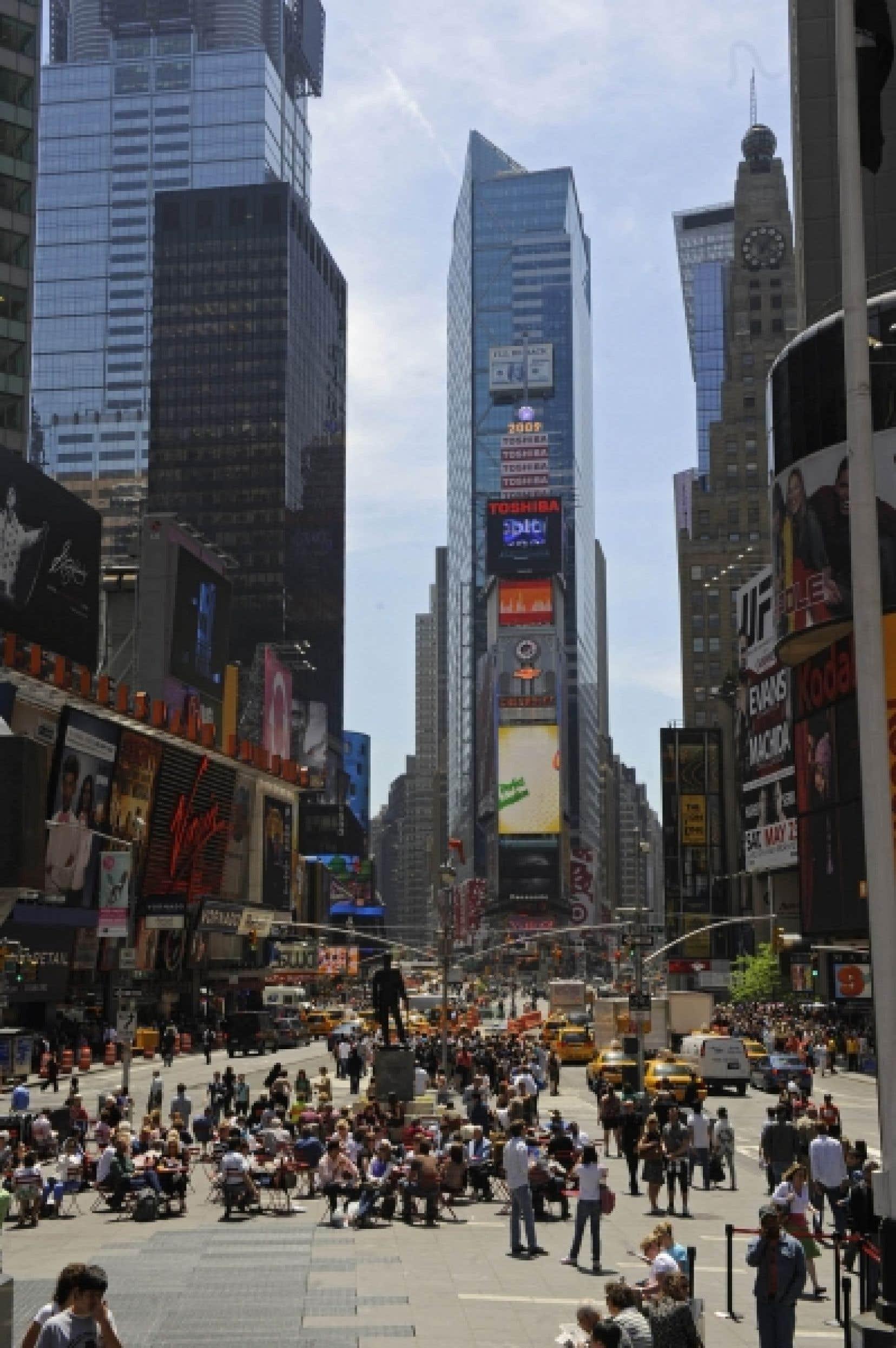 Une partie du fameux Times Square de New York.