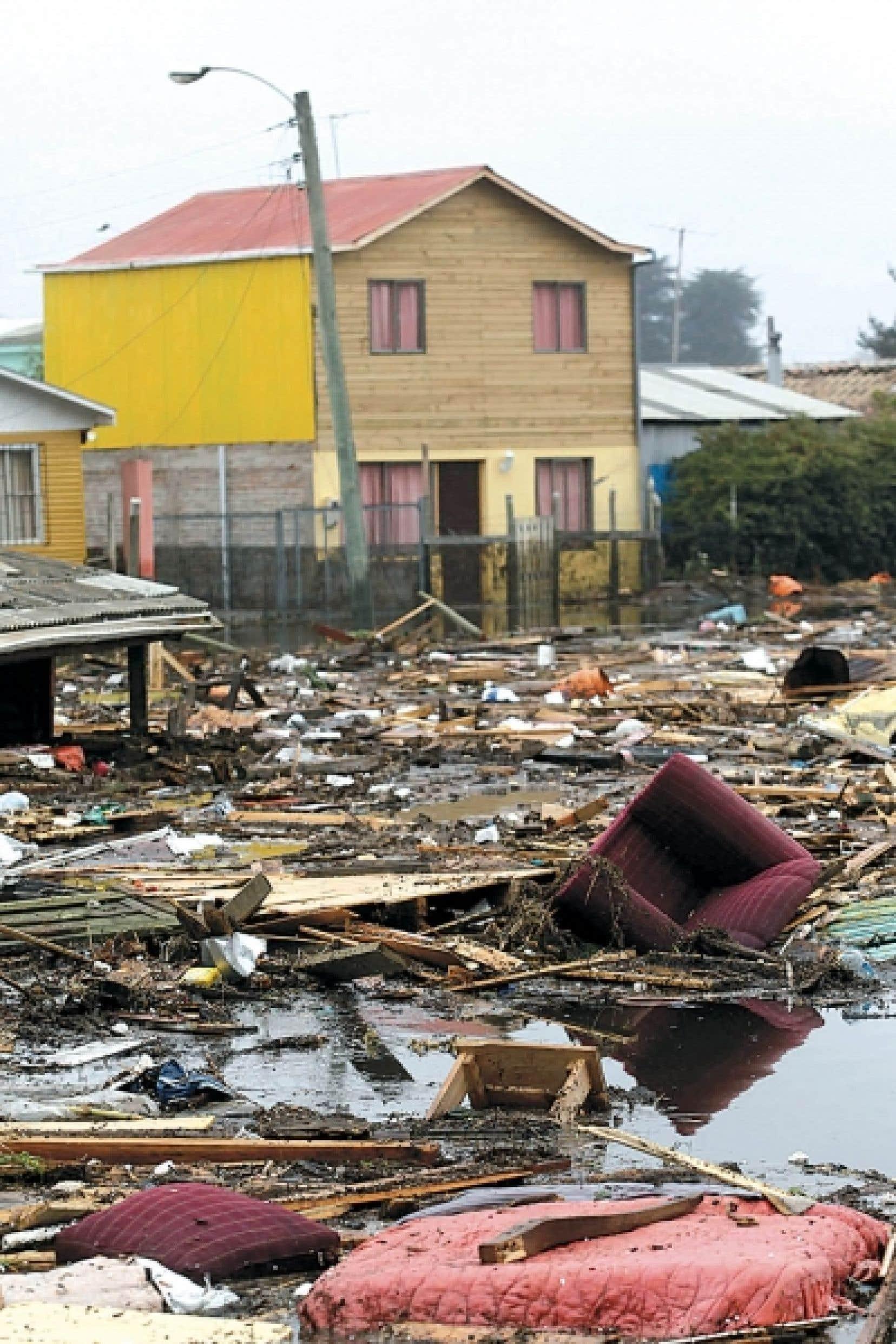 La côte chilienne près de la ville de Pelluhue