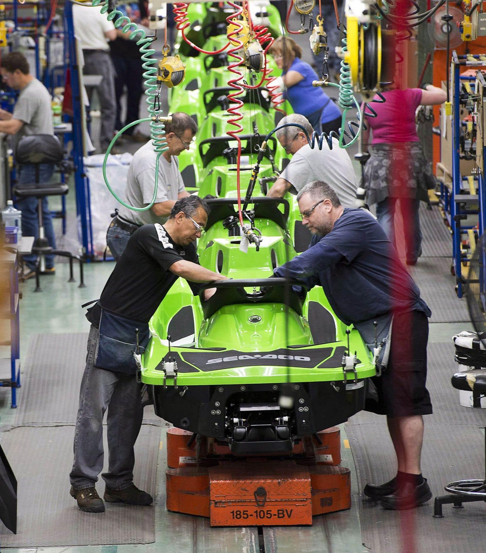 BRP exploite trois usines au Mexique, comme celle de Valcourt (ci-dessus).