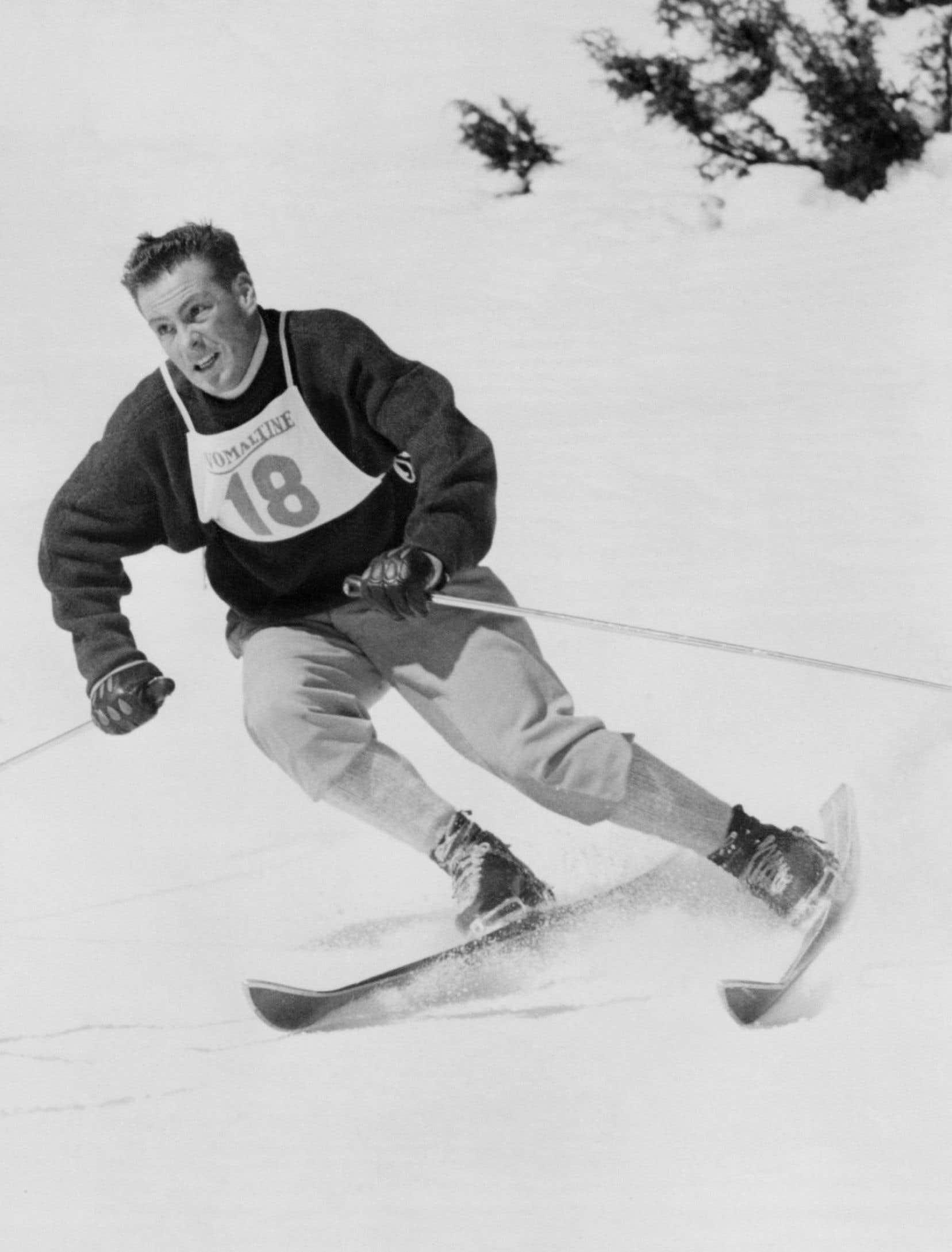 Jean Vuarnet aux Jeux olympiques de Squaw Valley, aux États-Unis, en 1960