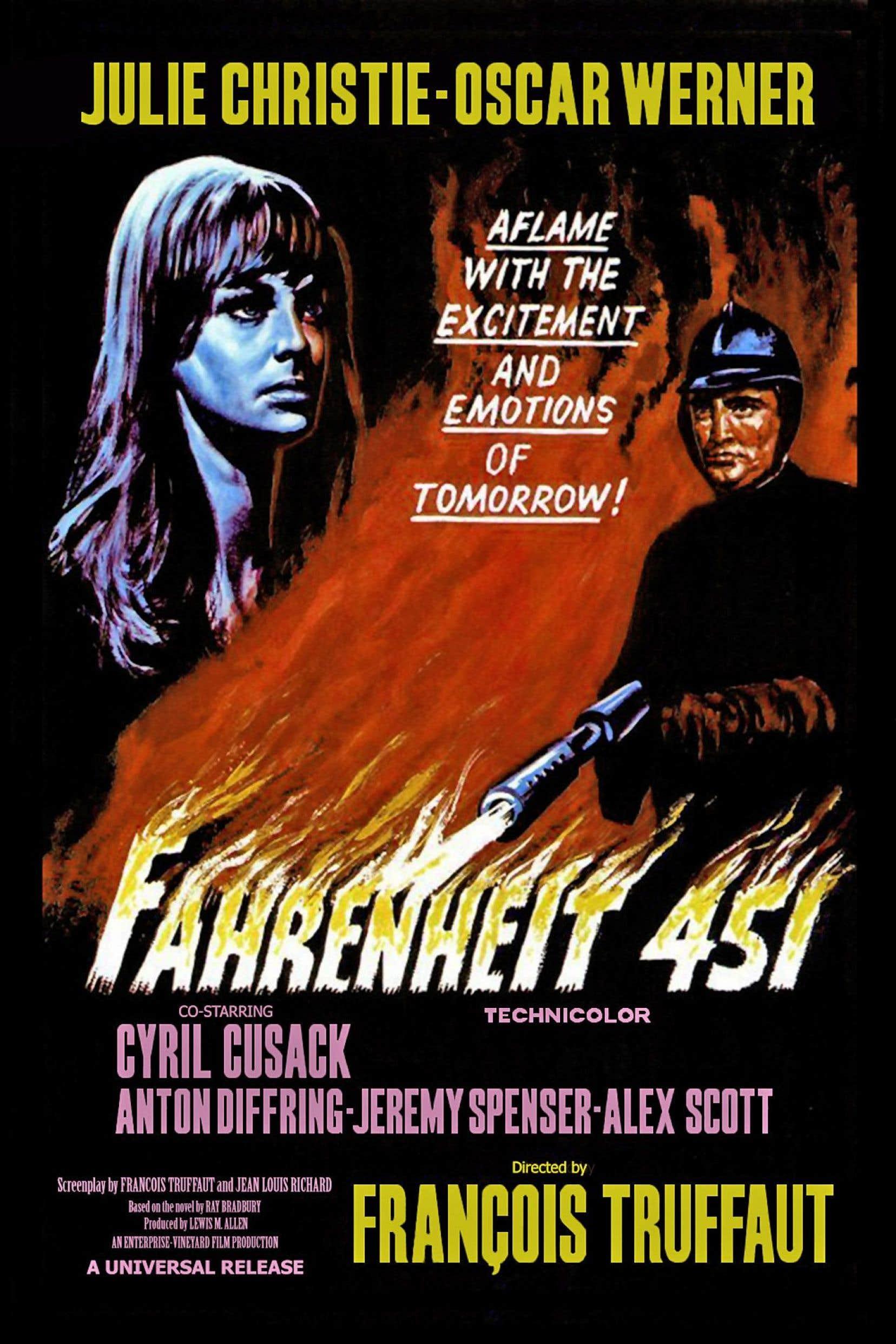 Affiche originale de «Fahrenheit 451», de François Truffaut