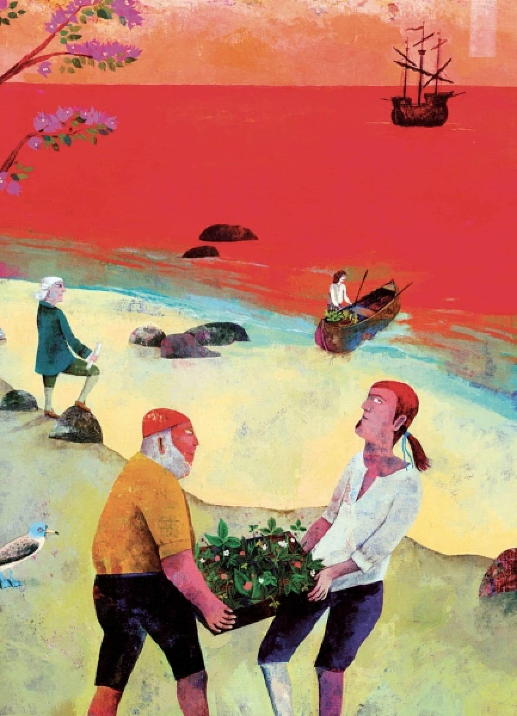 Tiré de La Fabuleuse Cuisine de la route des épices d'Alain Serres et Vanessa Hié (illustrations).