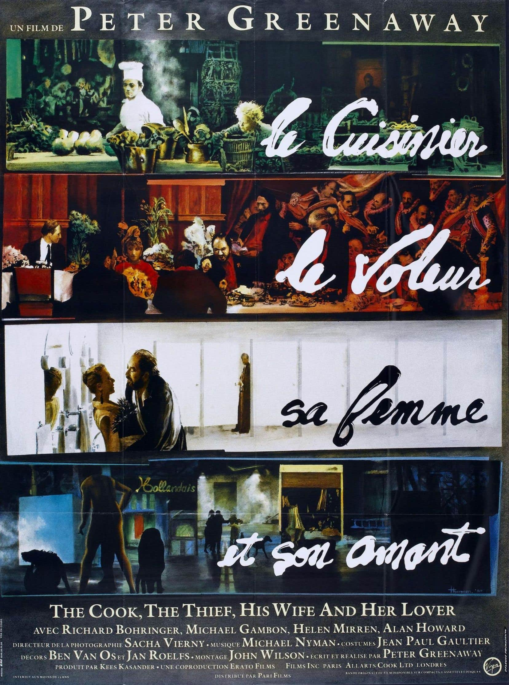 Affiche française du film «Le cuisinier, le voleur, sa femme et son amant», de Peter Greenaway