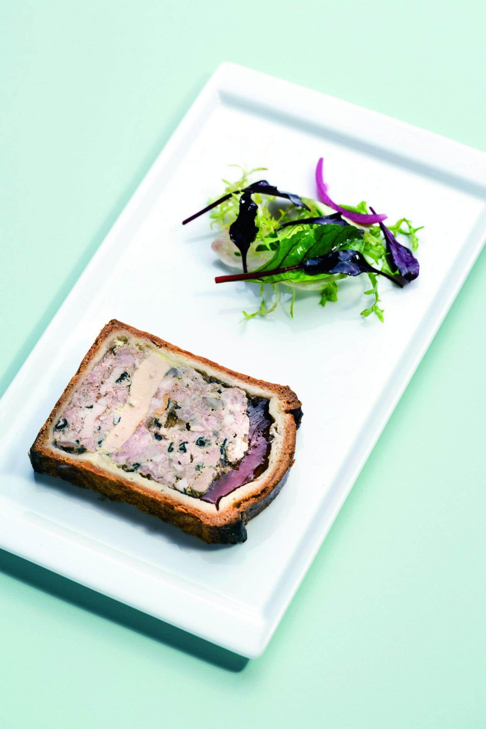 Le pâté en croûte foie gras et ris de veau du chef lyonnais Joseph Viola