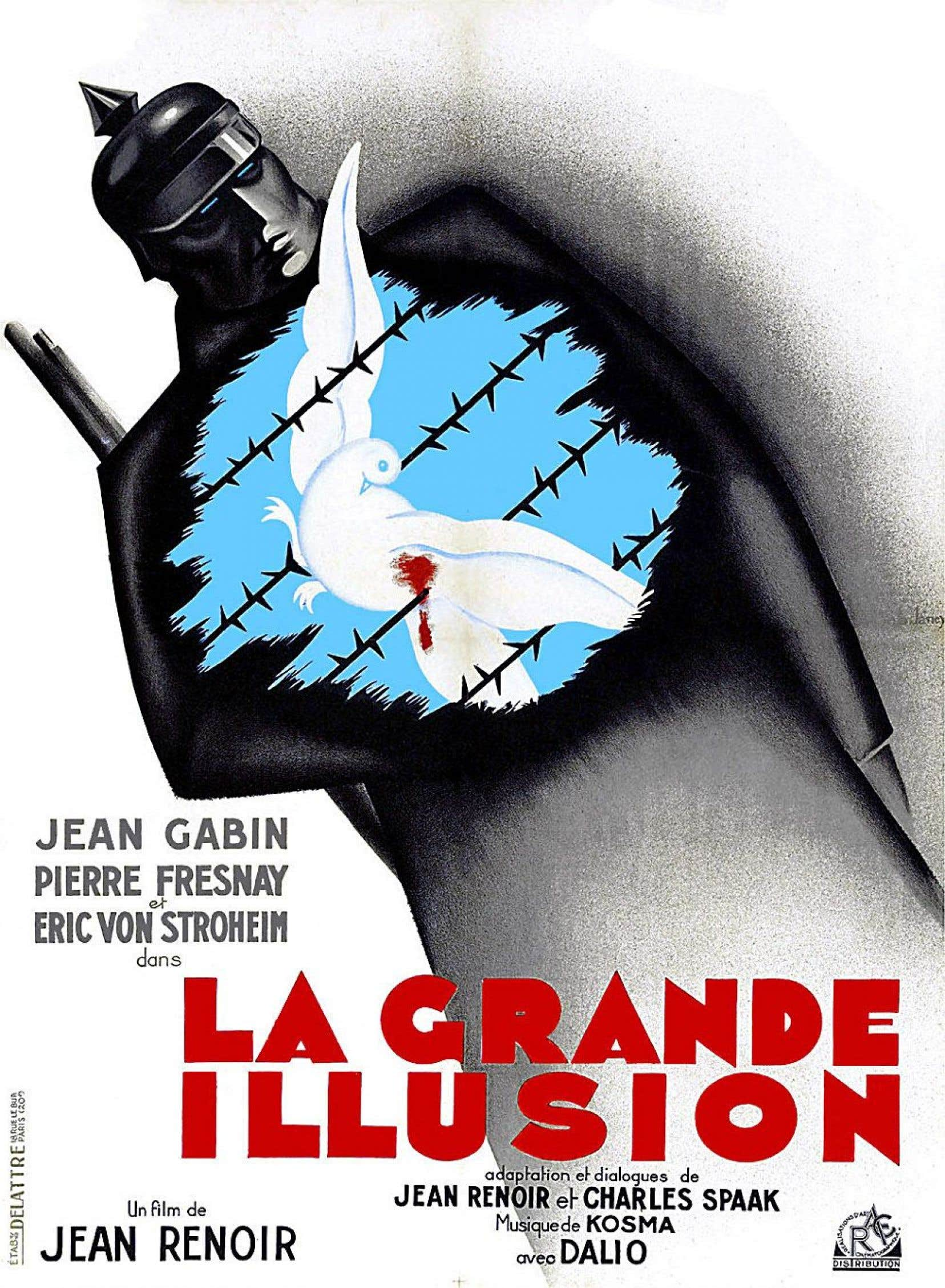 Affiche originale du film «La grande illusion», de Jean Renoir