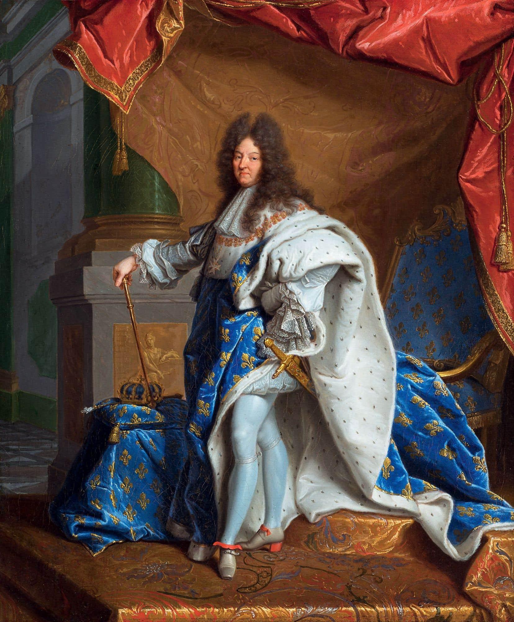 Hyacinthe Rigaud, «Modello du Portrait de Louis XIV en grand costume royal», 1701, huile sur toile, 55 x 45cm