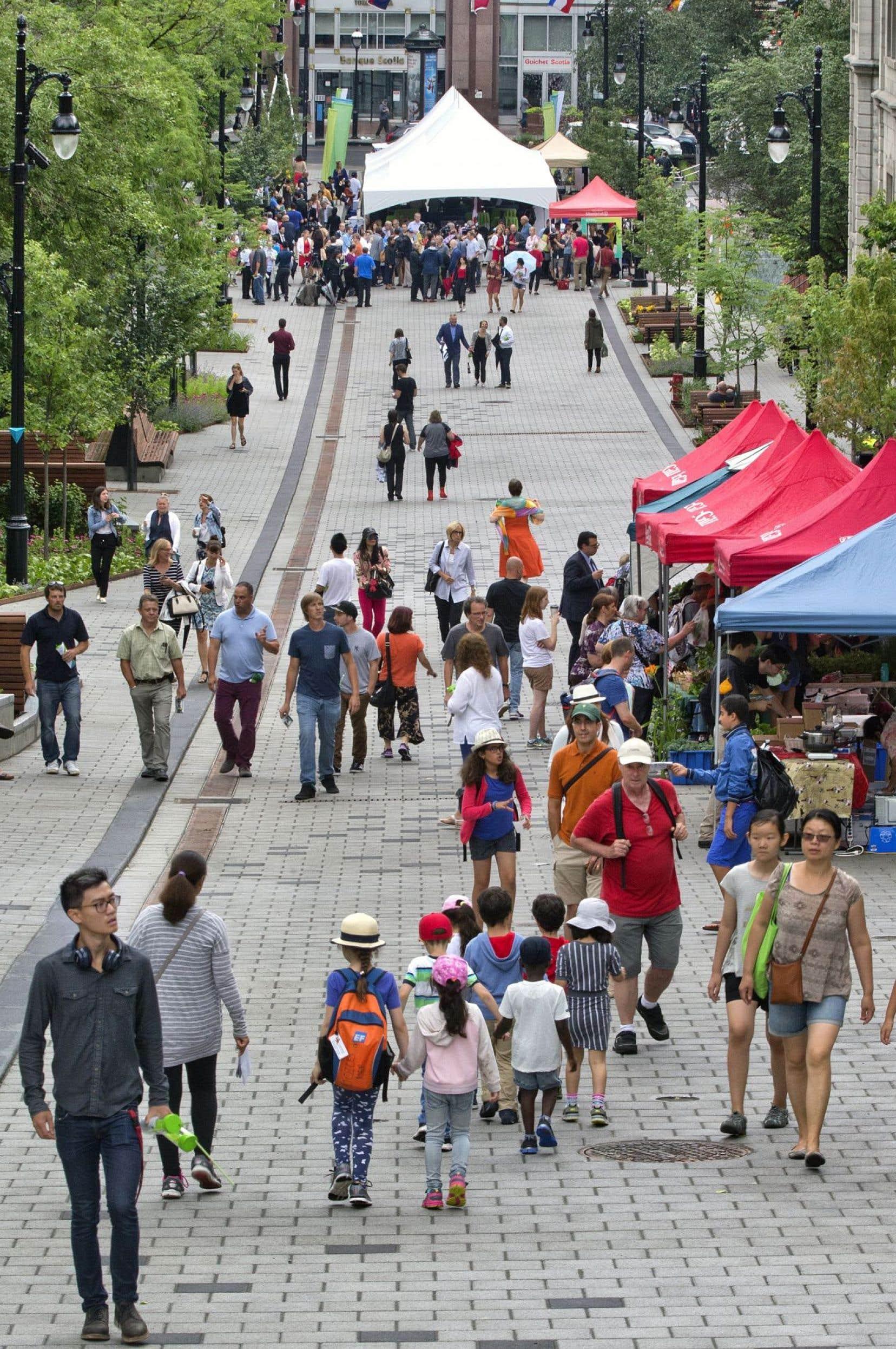 La promenade Fleuve-Montagne représente symboliquement la montée des premiers découvreurs qui, accompagnés de leurs guides autochtones, sont partis du fleuve pour aller jusqu'au sommet de la montagne.