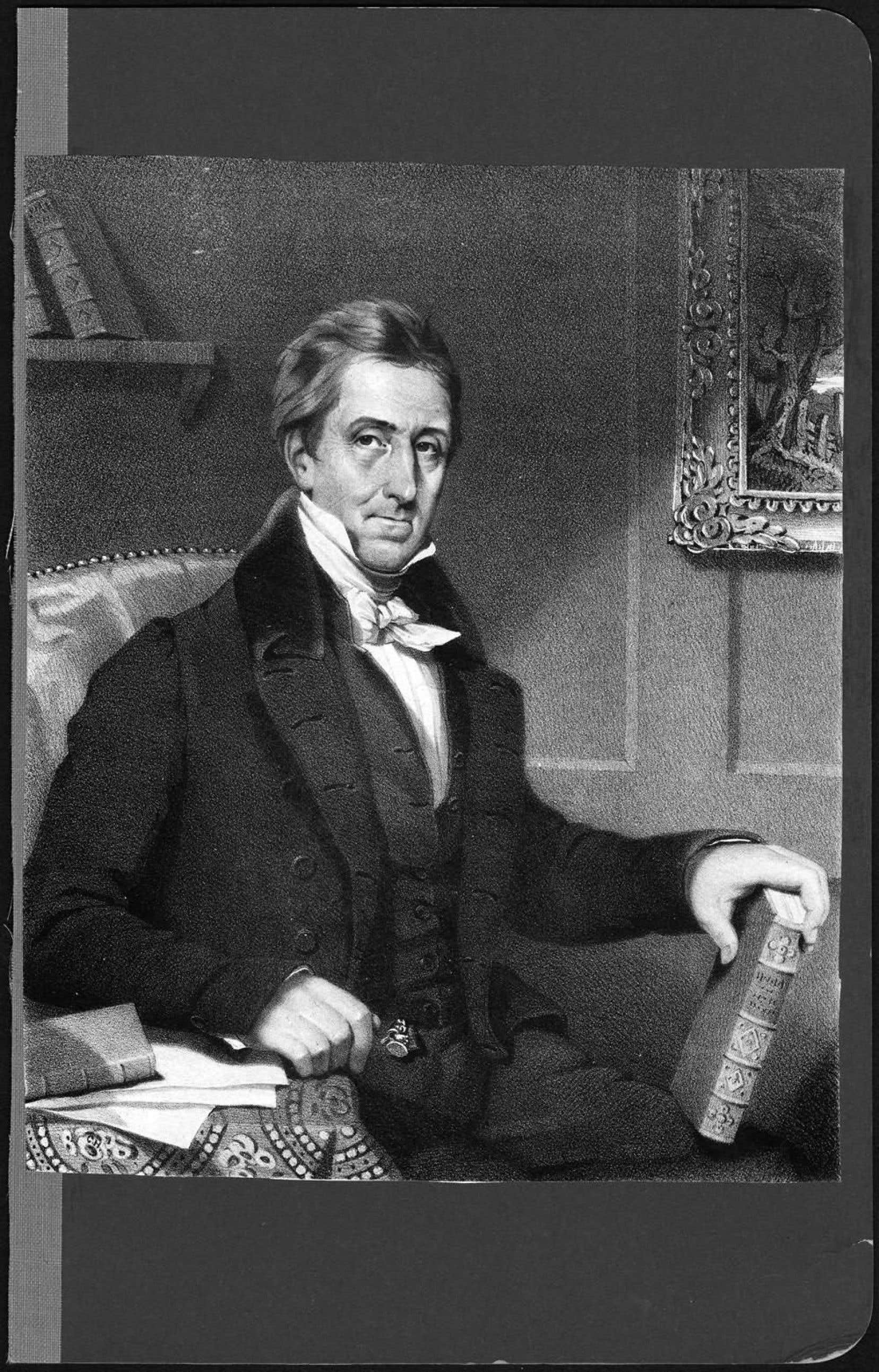 Le portrait daté de 1832 du journaliste montréalais Denis-Benjamin Viger