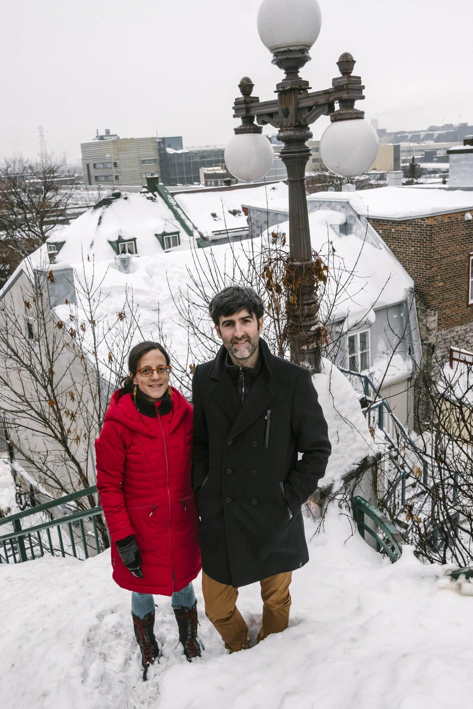 La rédactrice en chef, Suzie Genest, et le fondateur de MonQuartier.quebec, Arnaud Bertrand