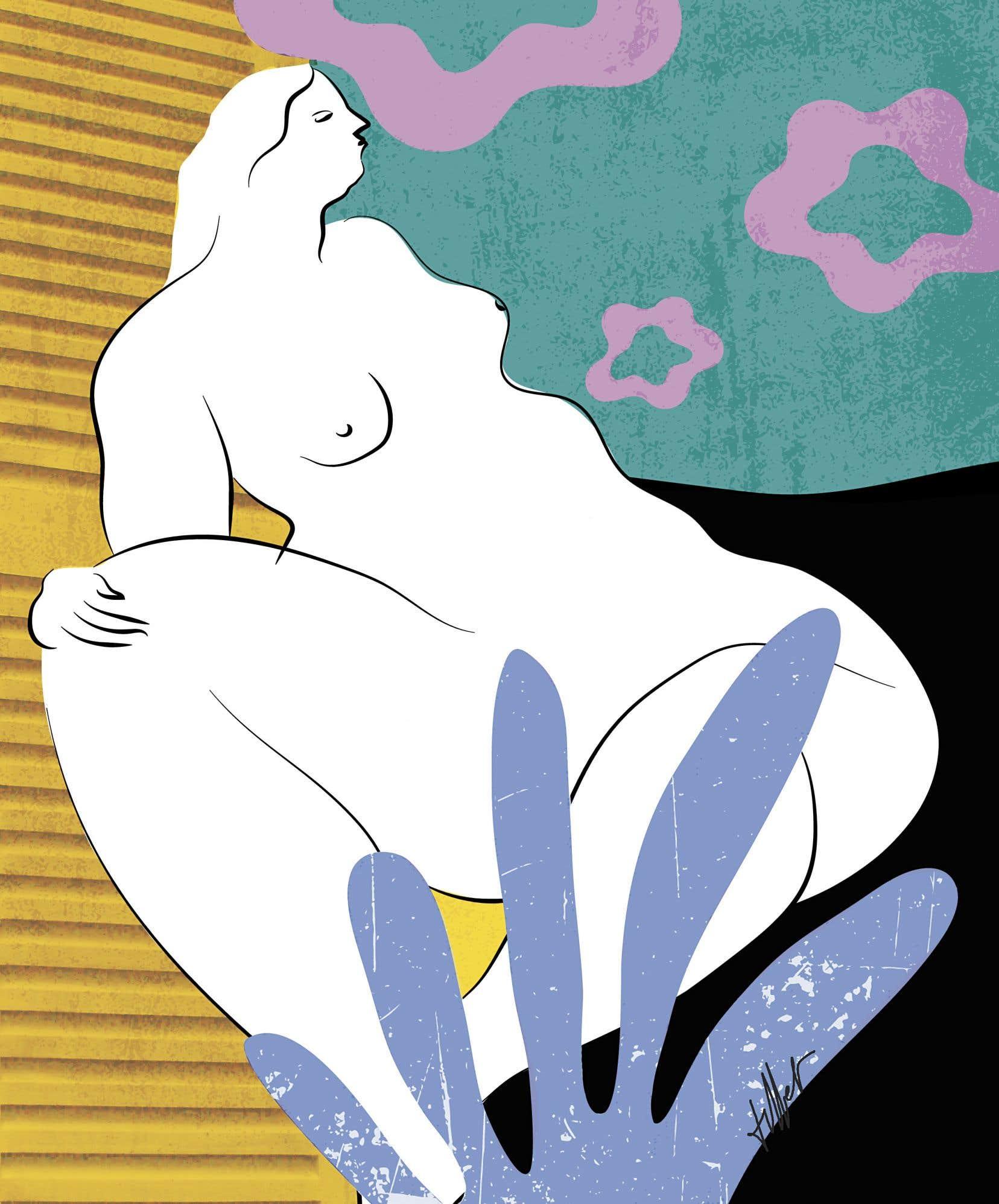 Journal du rapport à son corps d'une femme sous l'emprise éternelle d'un insatiable appétit de bouffe, de sexe et d'alcool, «Grosse» raconte à travers huit dessins disséqués par leur auteure une existence au bord du précipice.