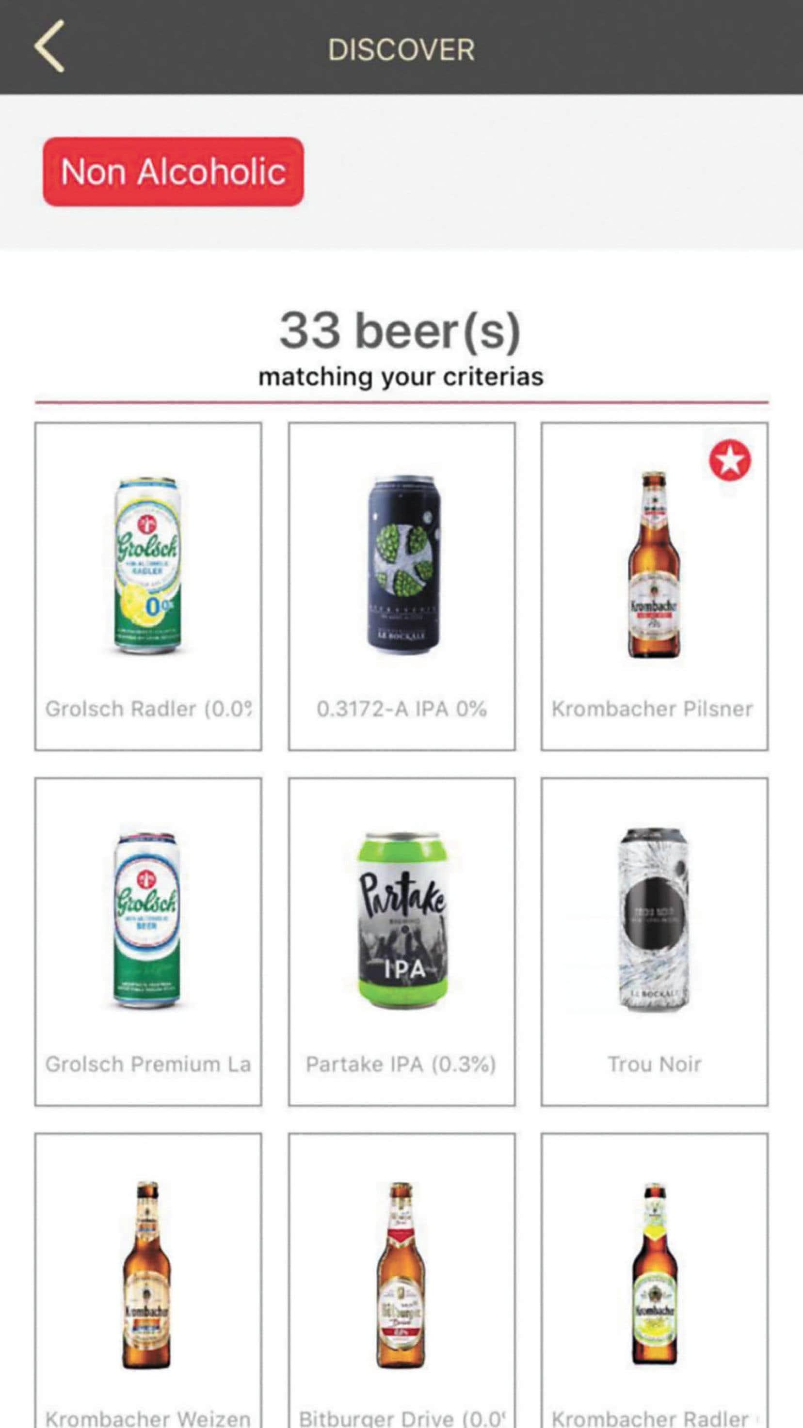 En ouvrant Birre & Co., vous vous retrouverez face à un catalogue qui vous permettra non seulement de découvrir de nouvelles bières correspondant à vos préférences du moment, mais aussi de bénéficier de rabais sur celles-ci.