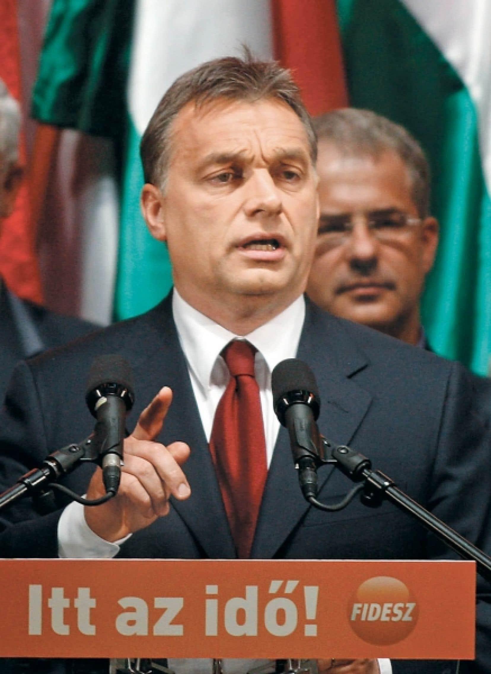 Viktor Orban, le grand vainqueur et prochain premier ministre de Hongrie