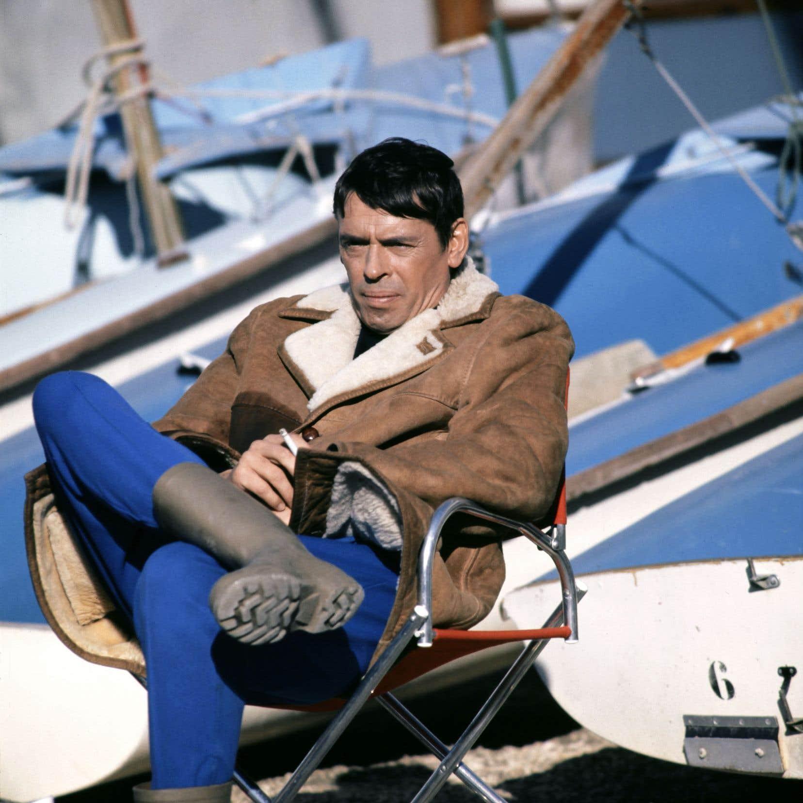 Jacques Brel au port de Marseille, en décembre 1970