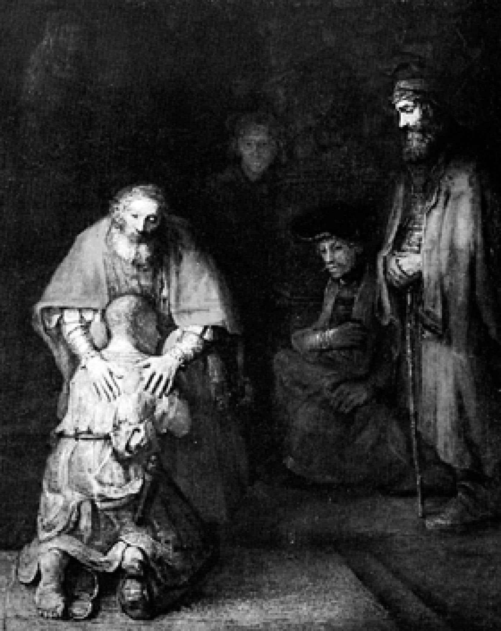 Le Retour de l'enfant prodigue, de Rembrandt (1606-1669)