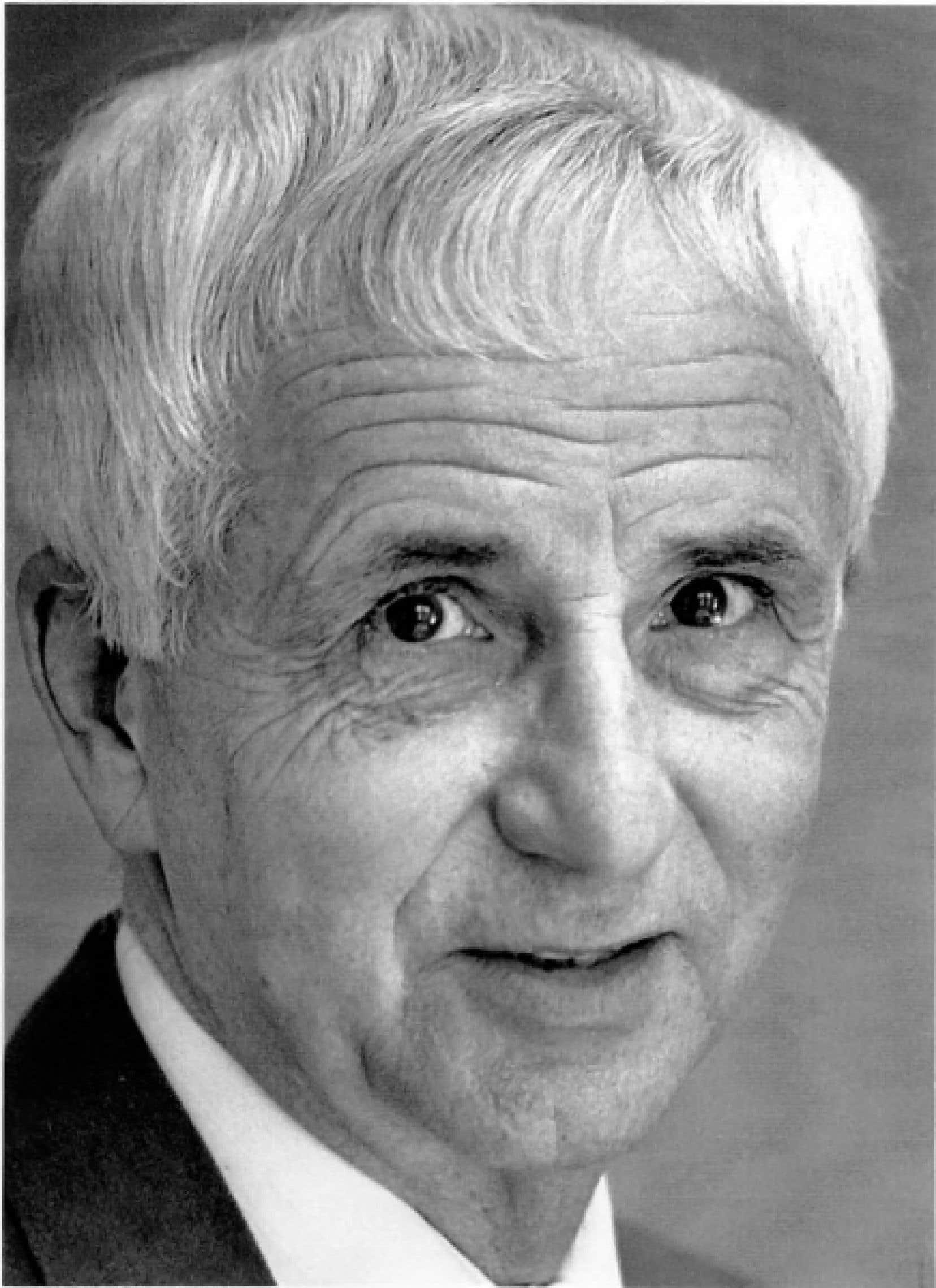 Jean Franc&oelig;ur, &agrave; son d&eacute;part du Devoir en 1992<br />
