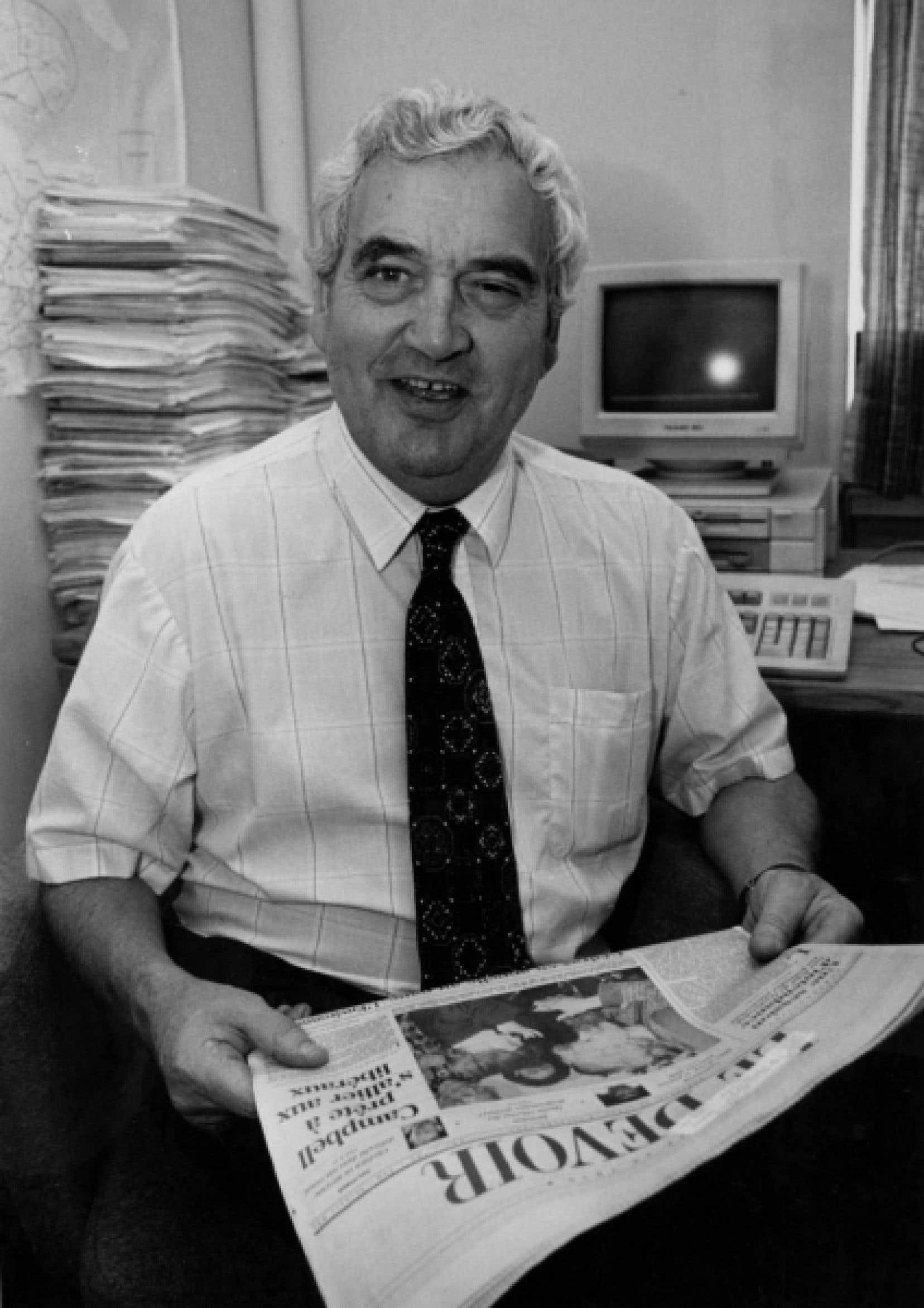 Gilles Lesage au Devoir, en 1993.<br />