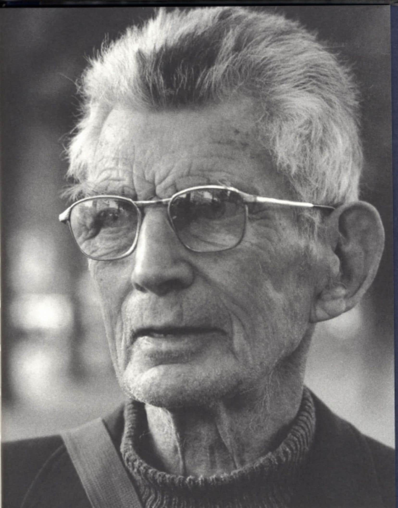 Samuel Beckett photographié par François-Marie Bonier et publié dans un livre paru en 2009 aux éditions Steidl.