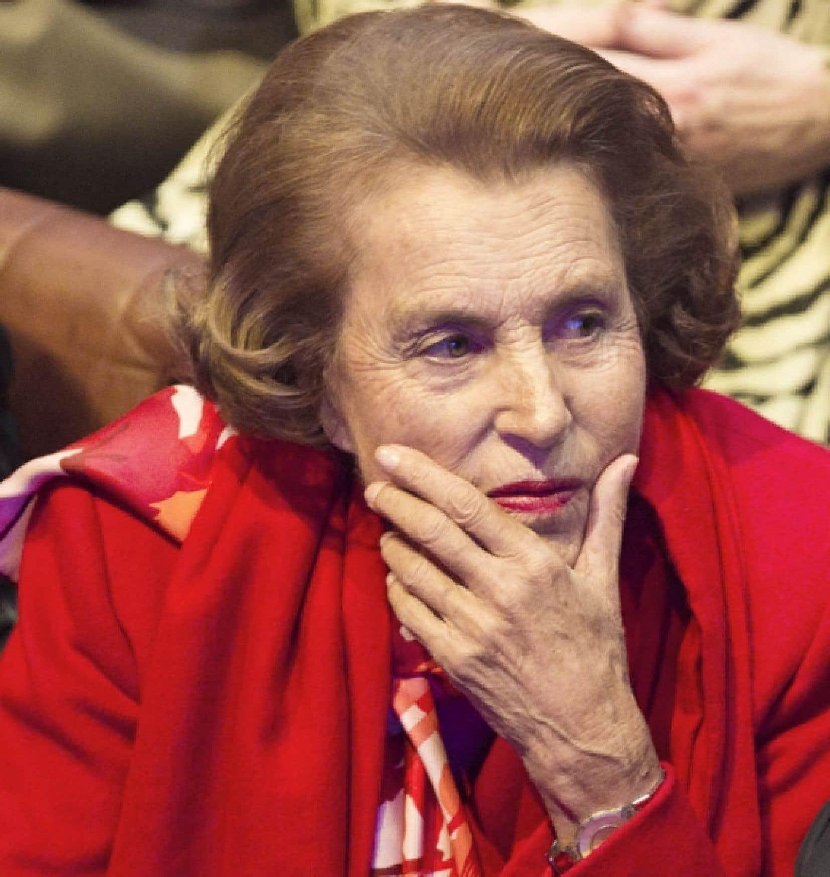 Liliane Bettencourt, héritière de l'immense fortune L'Oréal<br />