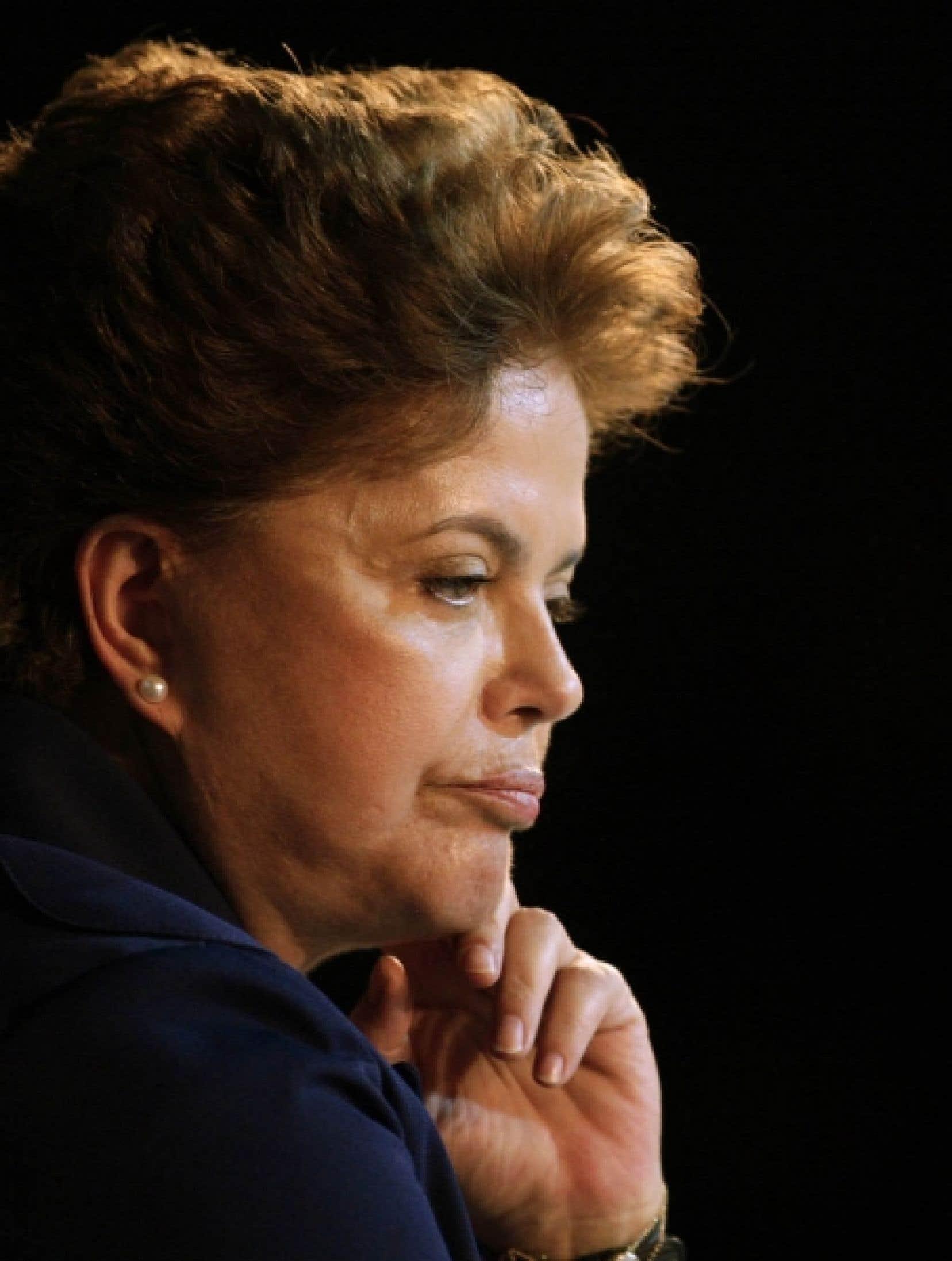 Dilma Rousseff, candidate du Parti des travailleurs<br />