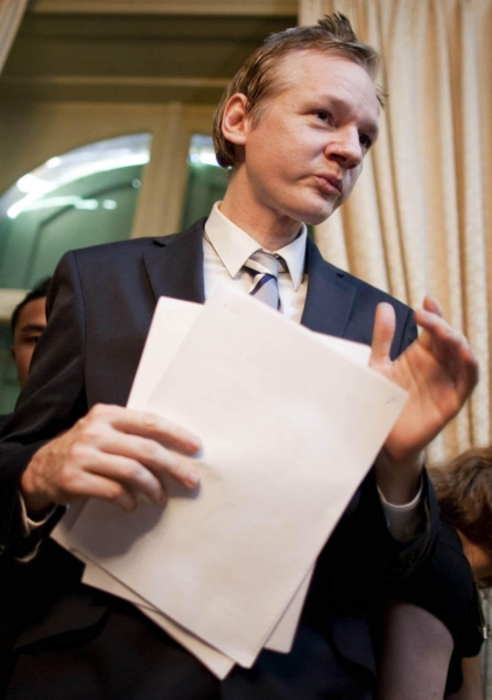 Julian Assange, le fondateur de WikiLeaks, ce week-end<br />