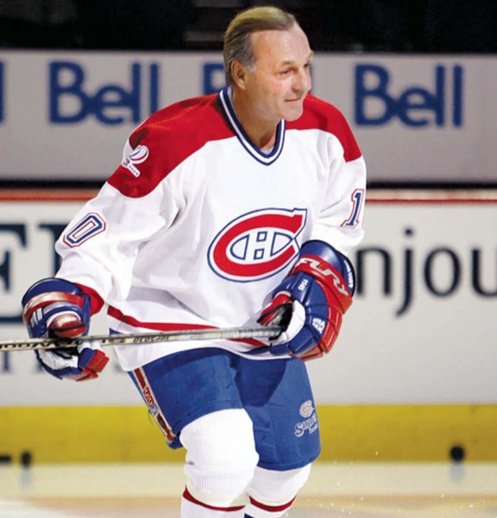 Guy Lafleur, ancien joueur des Canadiens de Montéal, à la célébration des 100 ans du club.<br />