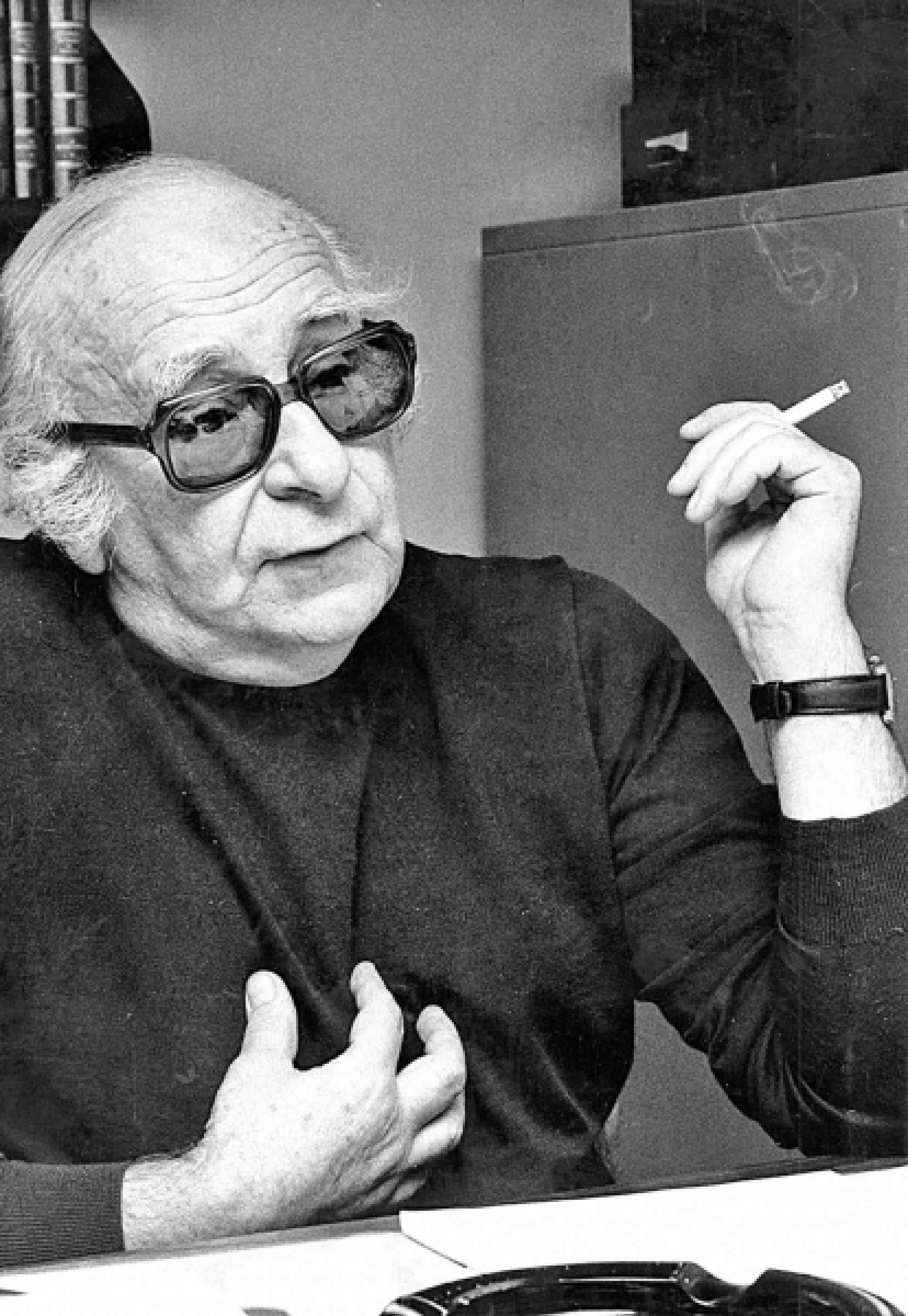 Marcel Rioux (1919-1992), président de la Commission d'enquête sur l'enseignement des arts, créée en 1966
