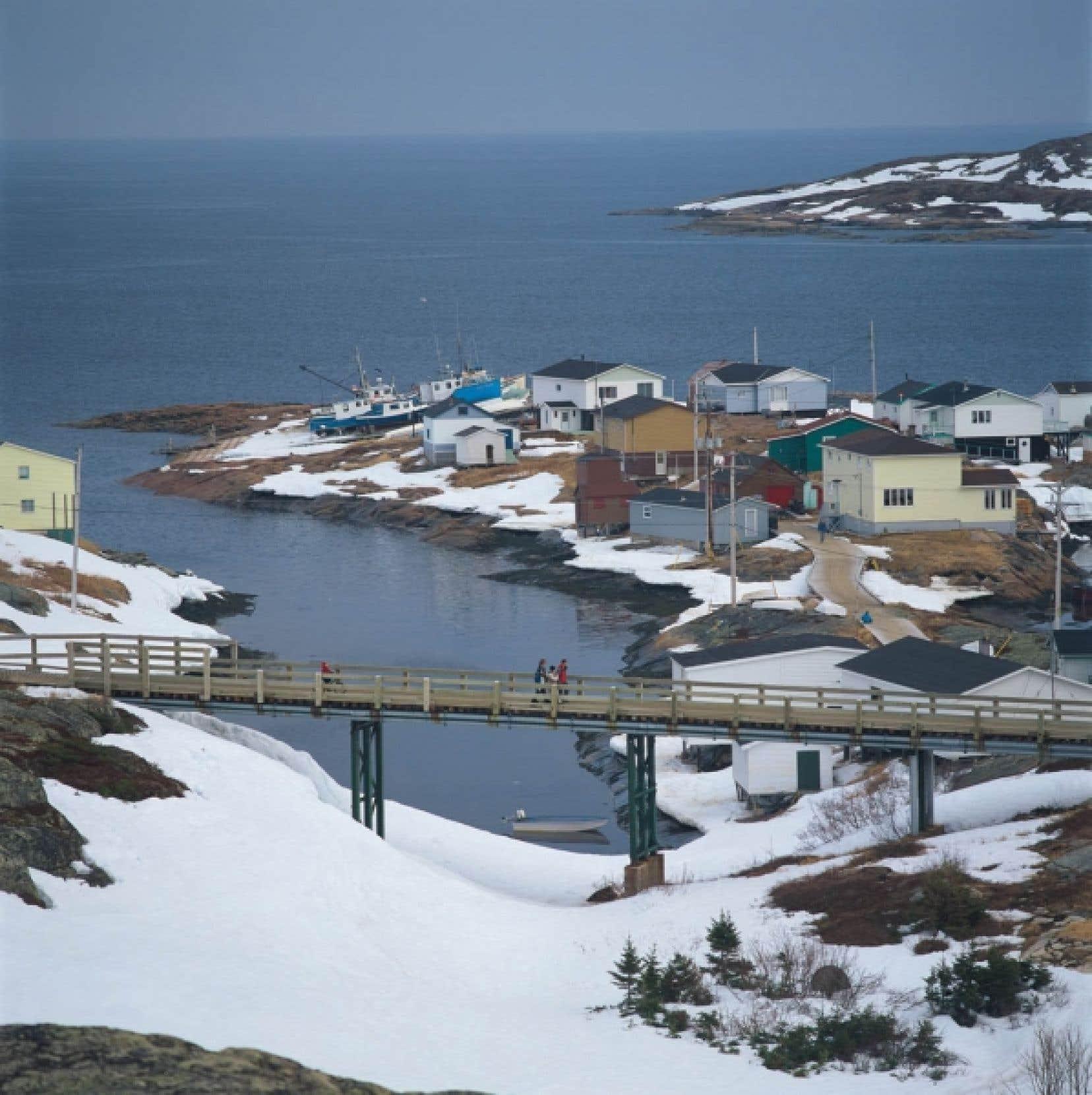 Harrington Harbour, où fut tourné le film La Grande Séduction. La pêche n'apporte plus la manne de jadis sur la Basse-Côte-Nord.<br />