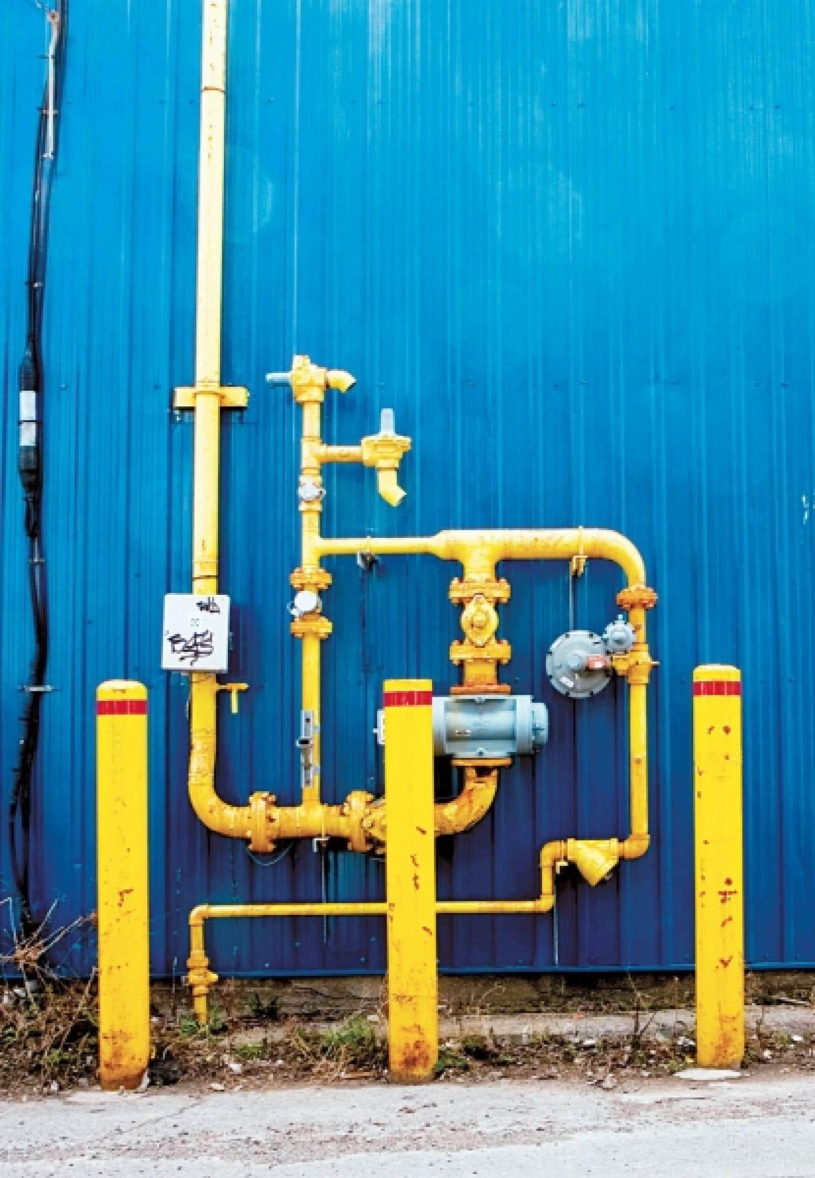 Un compteur de gaz naturel.<br />