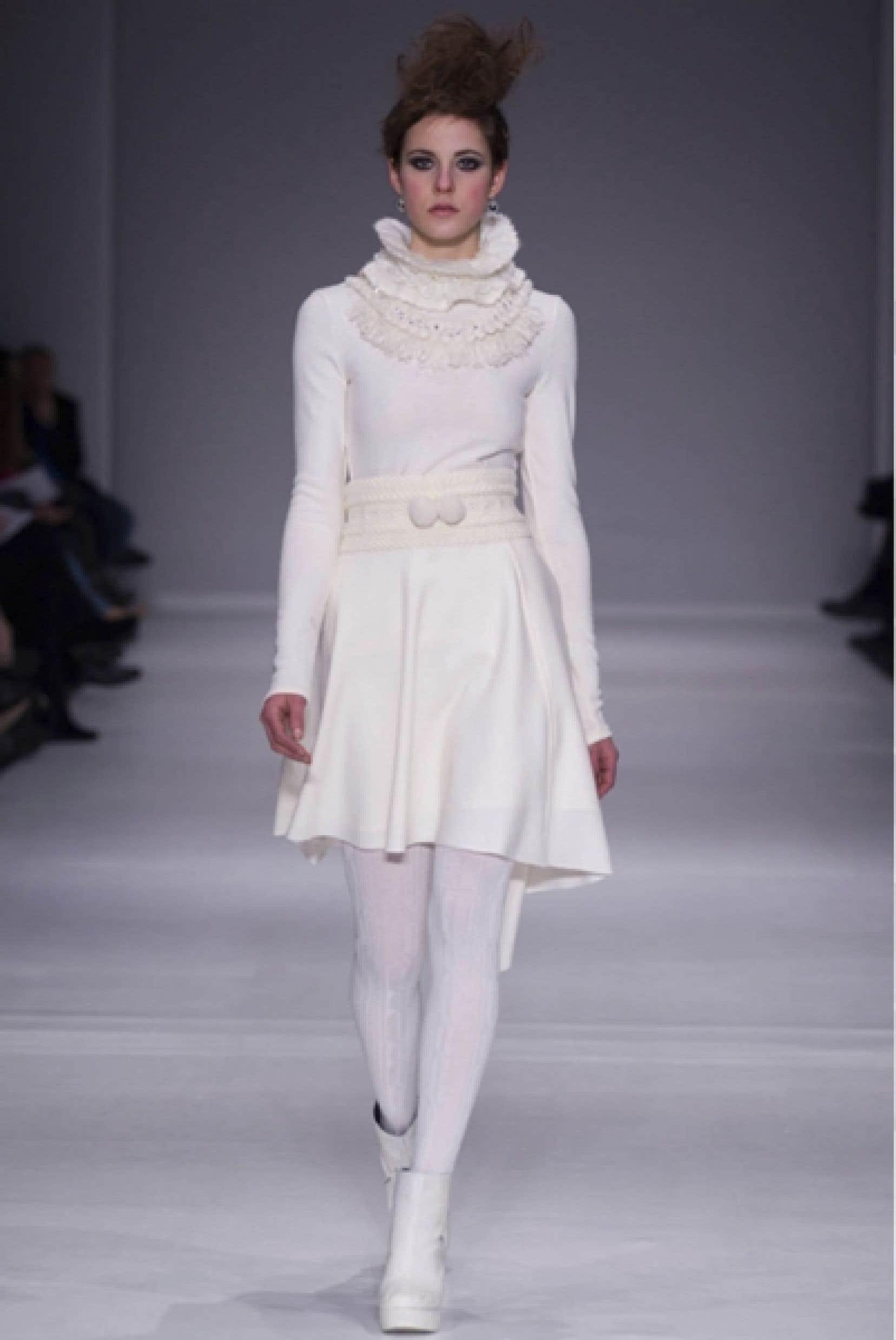 Une robe de Nadya Toto, présentée à la dernière Semaine de mode de Montréal<br />