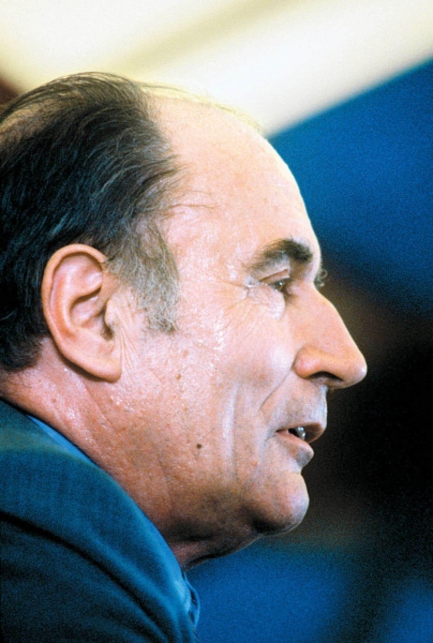François Mitterrand peu avant l'élection présidentielle de 1981.