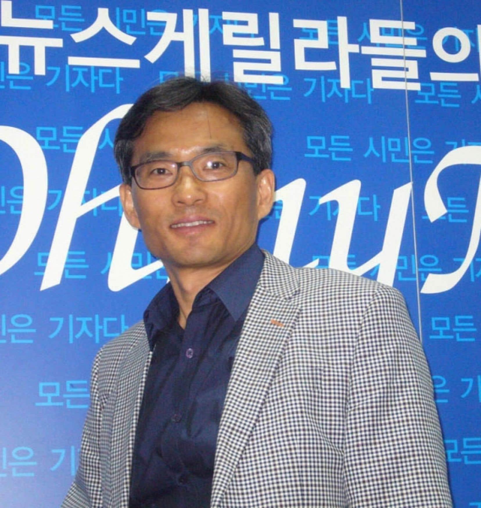 Oh Yeon Ho, créateur du plus grand portail d'information sud-coréen: deux millions et demi de pages consultées par jour.<br />