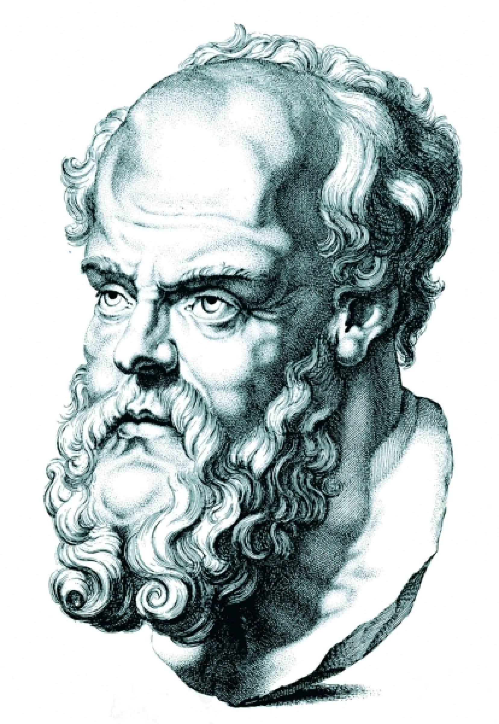 La post&eacute;rit&eacute; a surtout retenu le Socrate de Platon, d&eacute;sign&eacute; comme l&rsquo;homme le plus sage par l&rsquo;oracle de Delphes.<br />