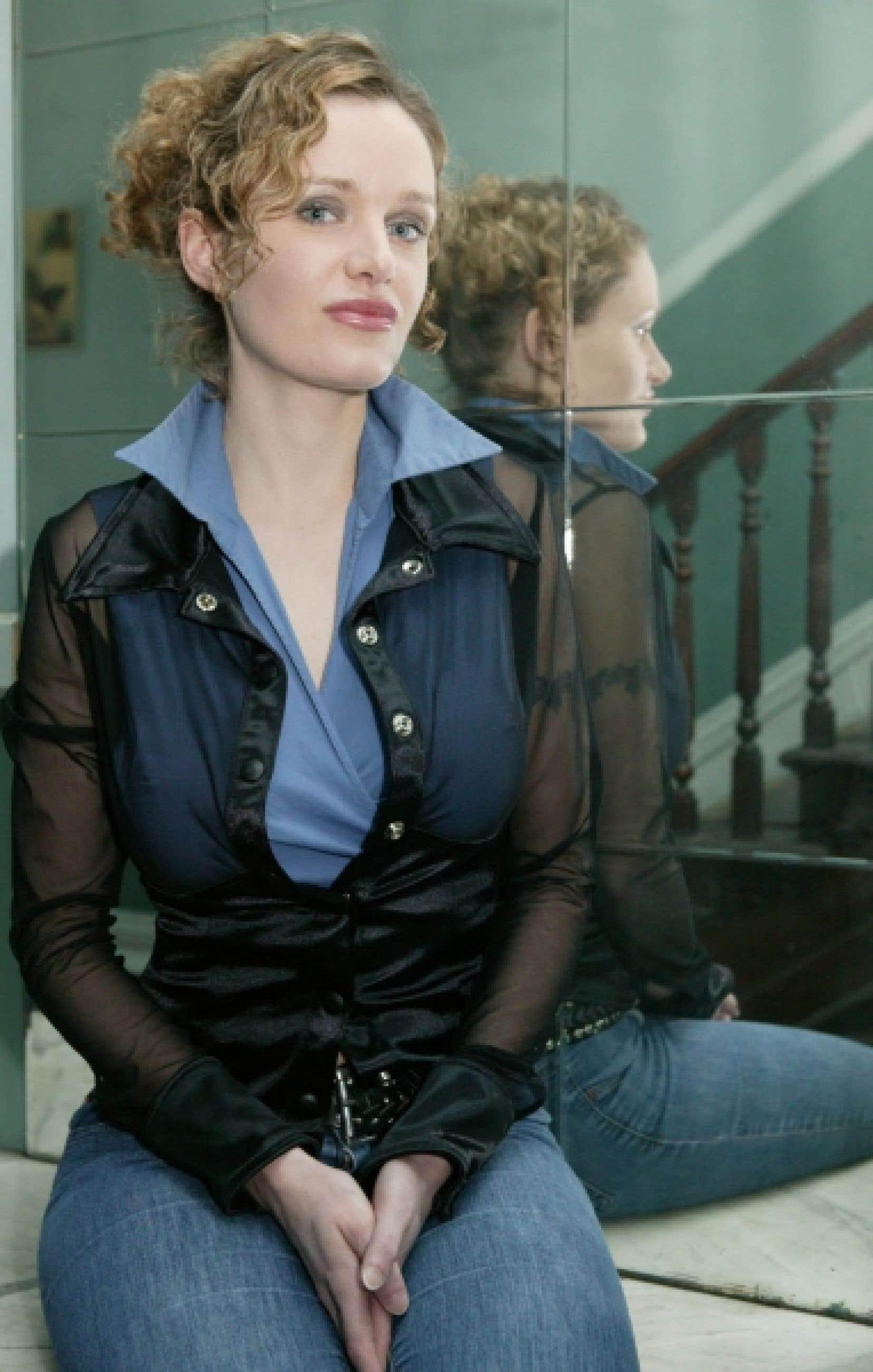 Nelly Arcan, photographiée en 2004<br />